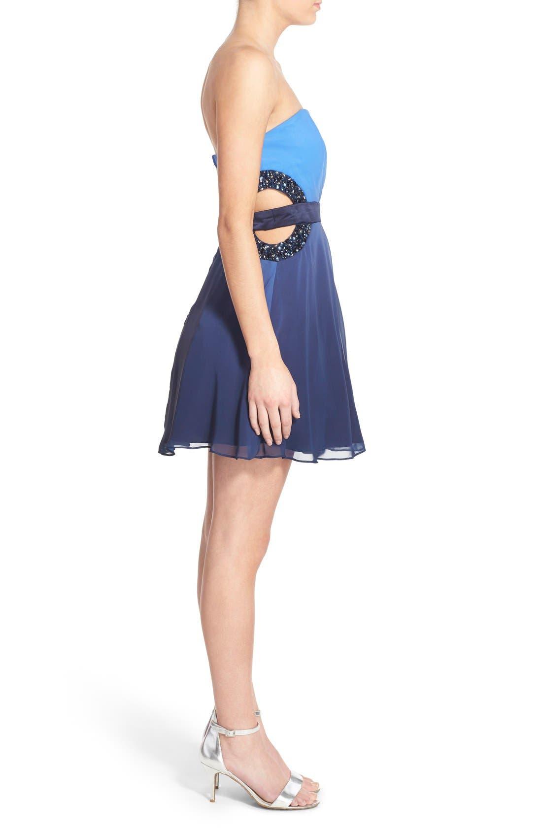 Alternate Image 3  - Dear Moon Embellished Side Cutout Skater Dress