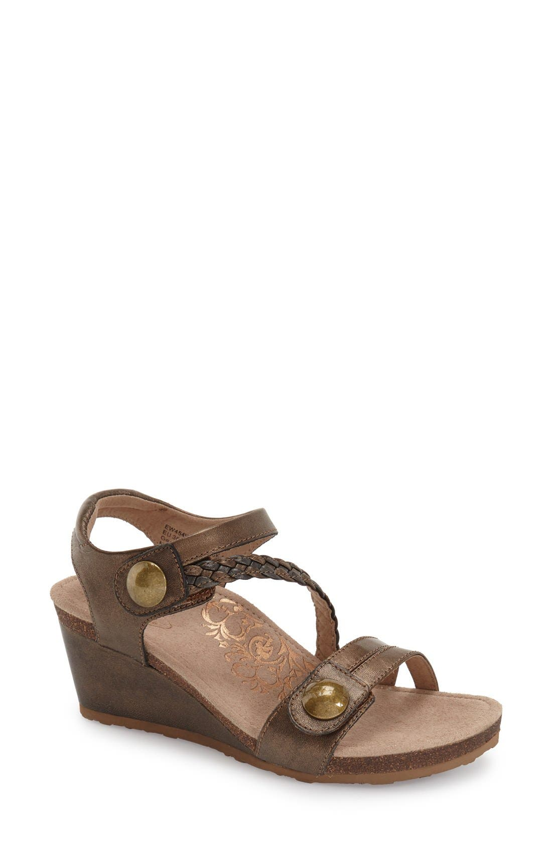 Aetrex 'Naya' Wedge Sandal (Women)