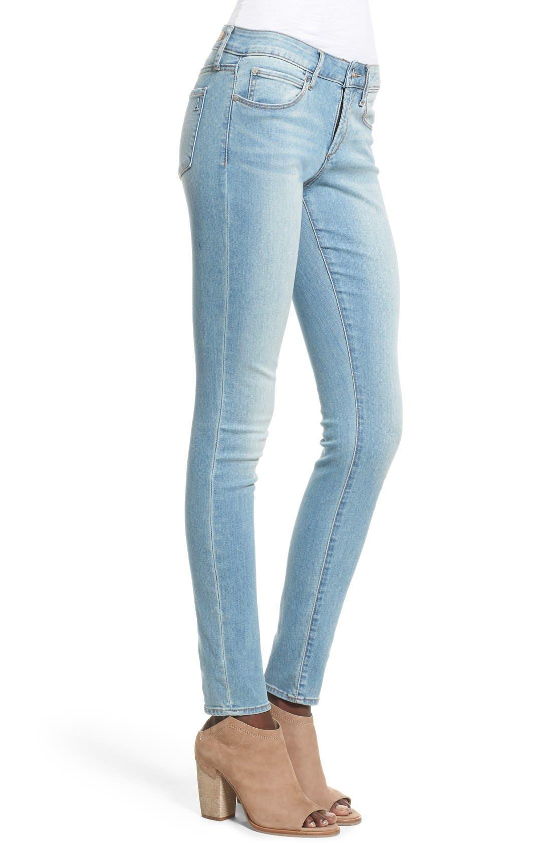 Alternate Image 3  - Articles of Society 'Mya' Skinny Jeans (Indigo Wash)
