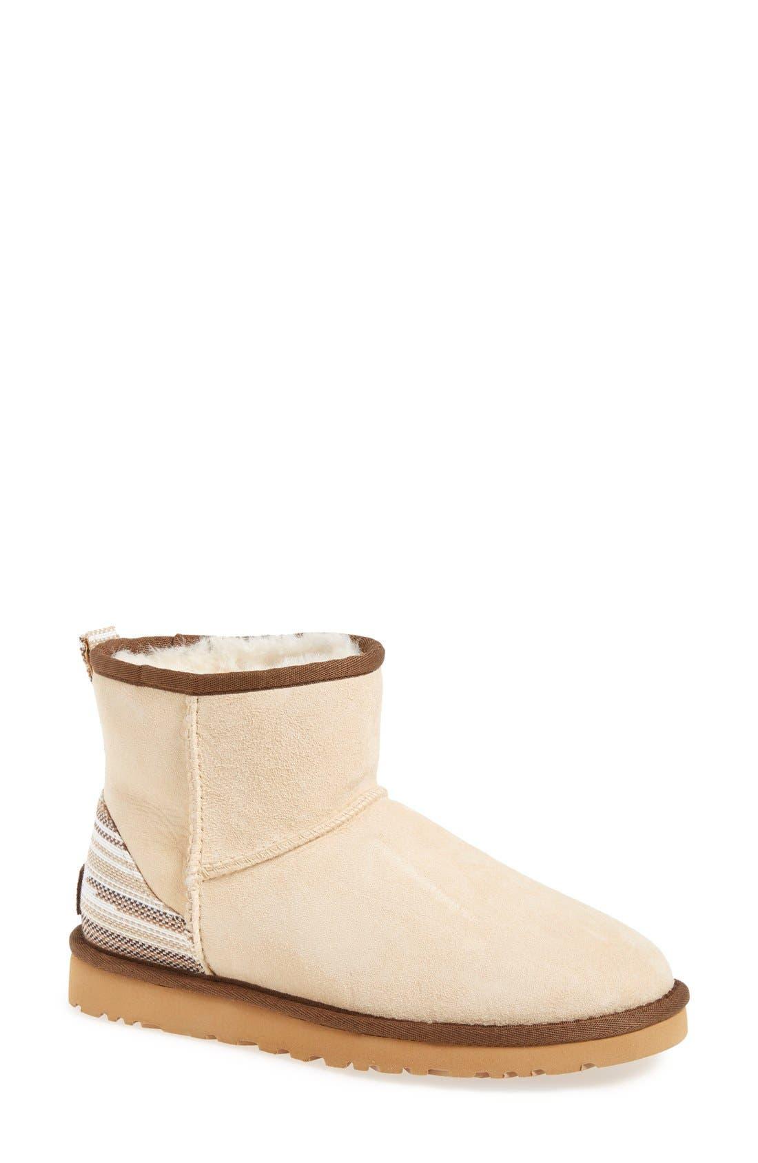 Alternate Image 1 Selected - UGG® 'Classic Mini Serape' Genuine Shearling Lined Boot (Women)