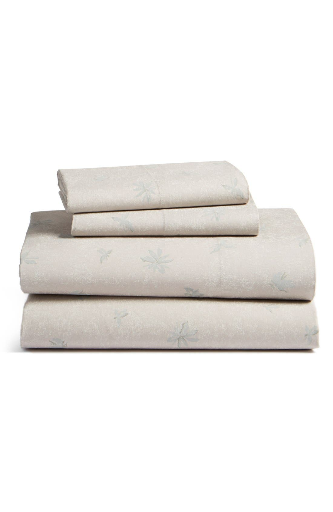 BEEKMAN 1802 'Minetto' Fitted Cotton Percale Sheet