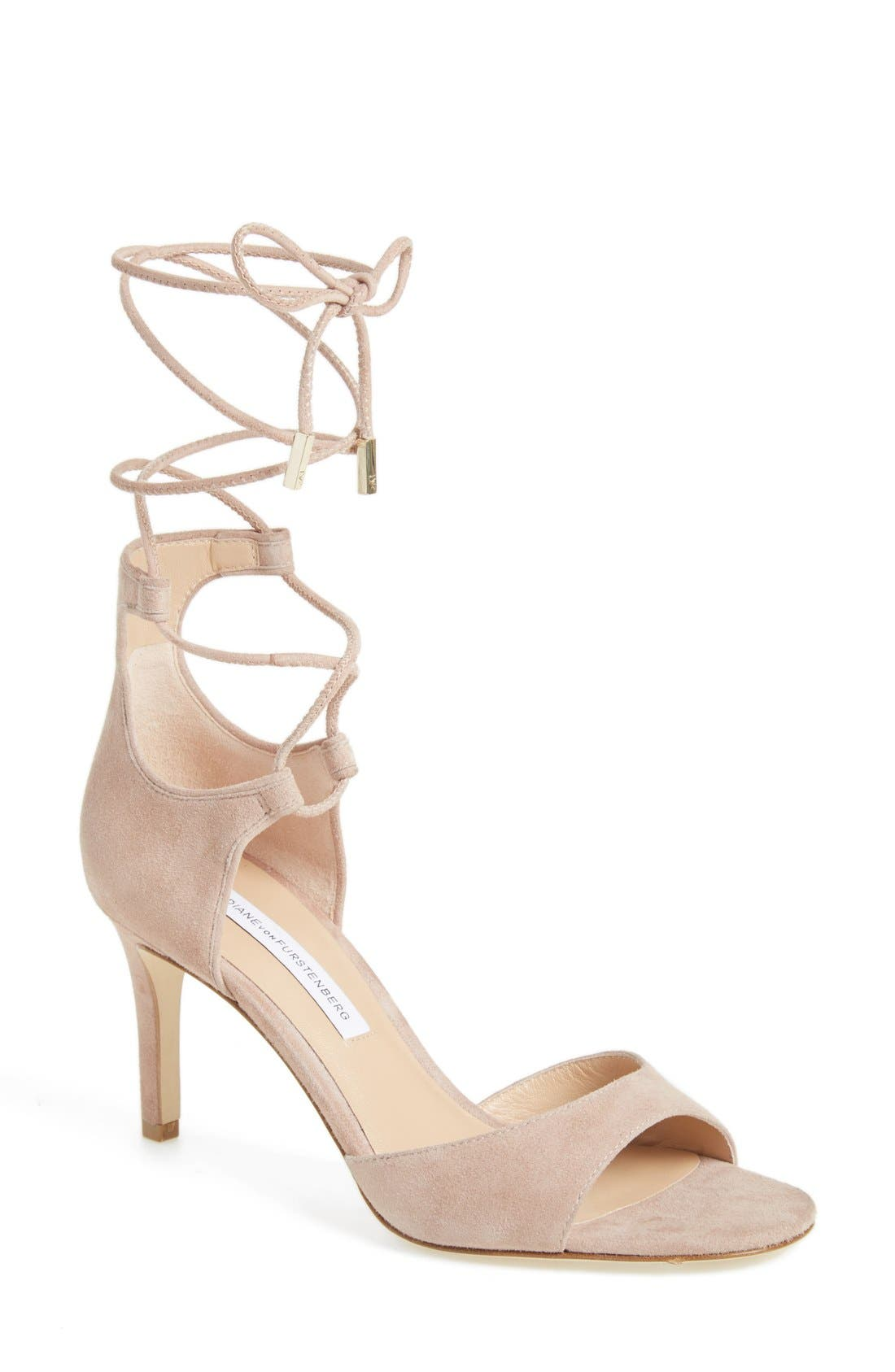 DIANE VON FURSTENBERG 'Rimini' Ankle Wrap Sandal