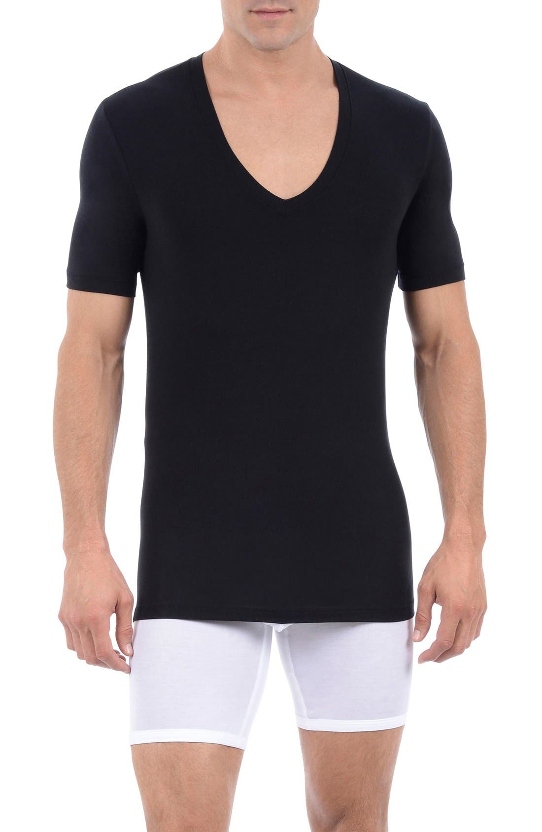 Main Image - Tommy John 'Cool Cotton' Deep V-Neck Undershirt