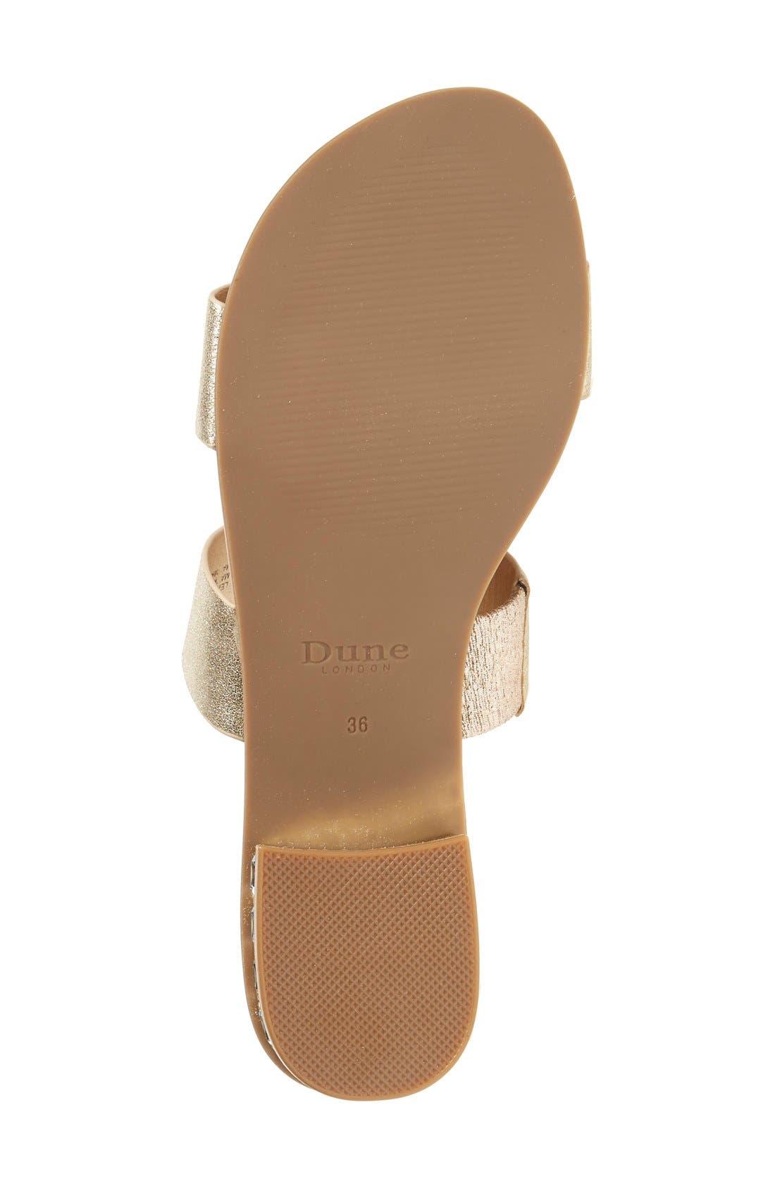 Alternate Image 4  - Dune London 'Nesha' Flat Slide Sandal (Women)