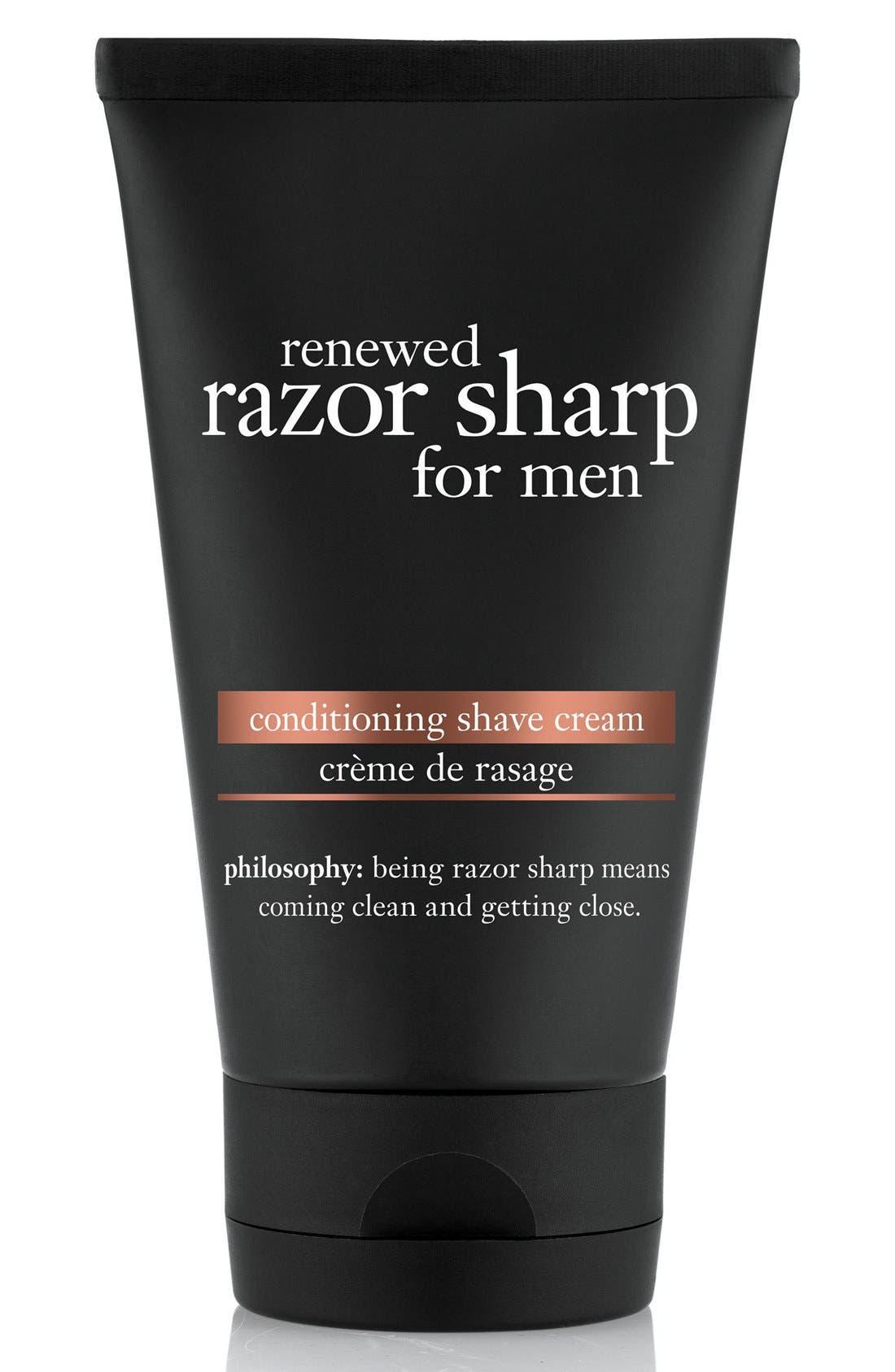 philosophy 'renewed razor sharp' cleansing shave cream for men