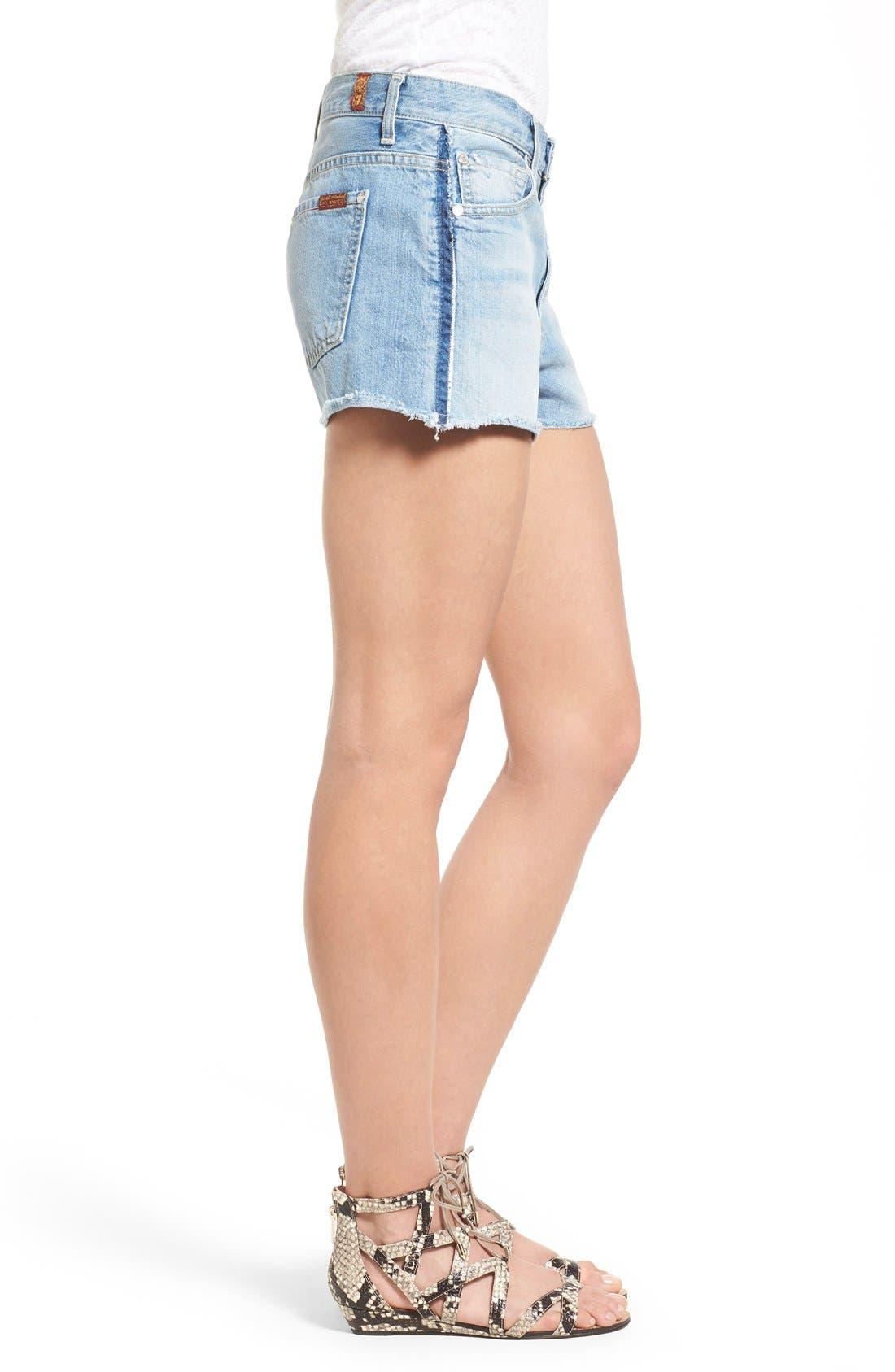 Alternate Image 3  - 7 For All Mankind® High Rise Cutoff Denim Shorts (Vintage Coronado Springs)