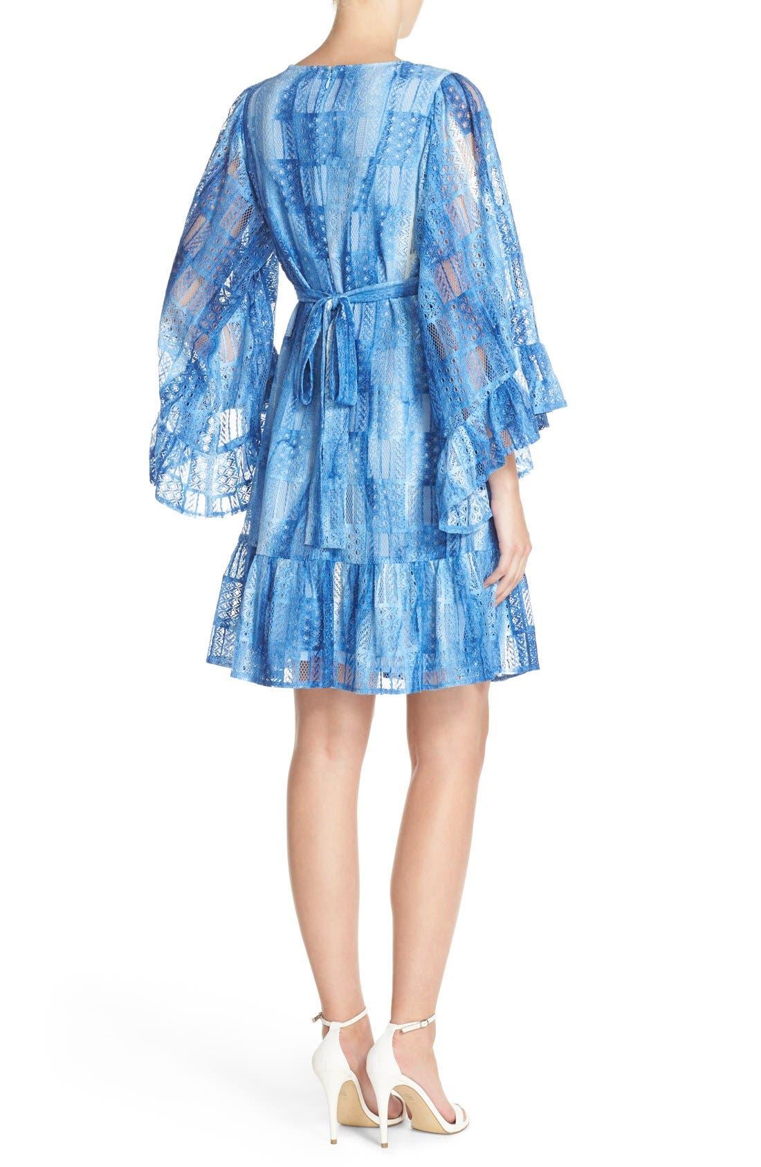 Alternate Image 2  - Betsey Johnson Cotton Blend Babydoll Dress