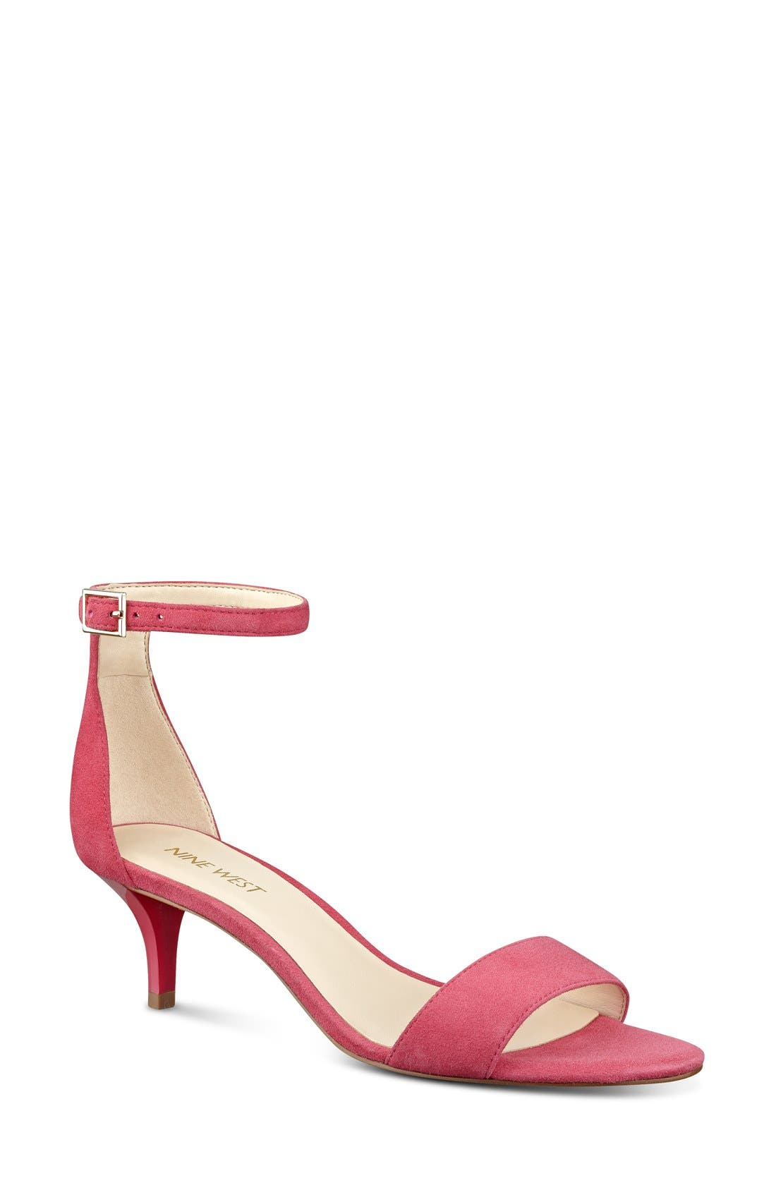 Alternate Image 1 Selected - Nine West 'Leisa' Ankle Strap Sandal (Women)