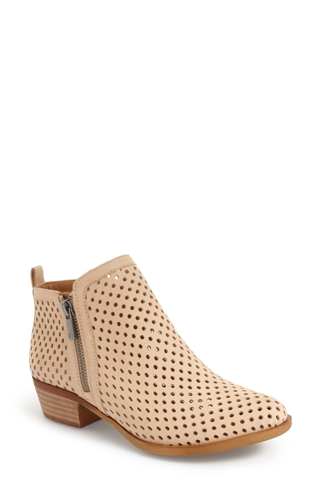 Alternate Image 1 Selected - Lucky Brand 'Basel' Perforated Bootie (Women)