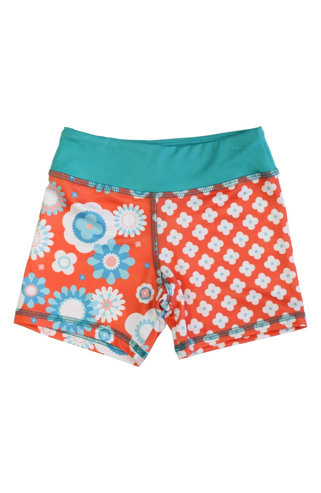 CHOOZE 'Splits' Mixed Print Shorts