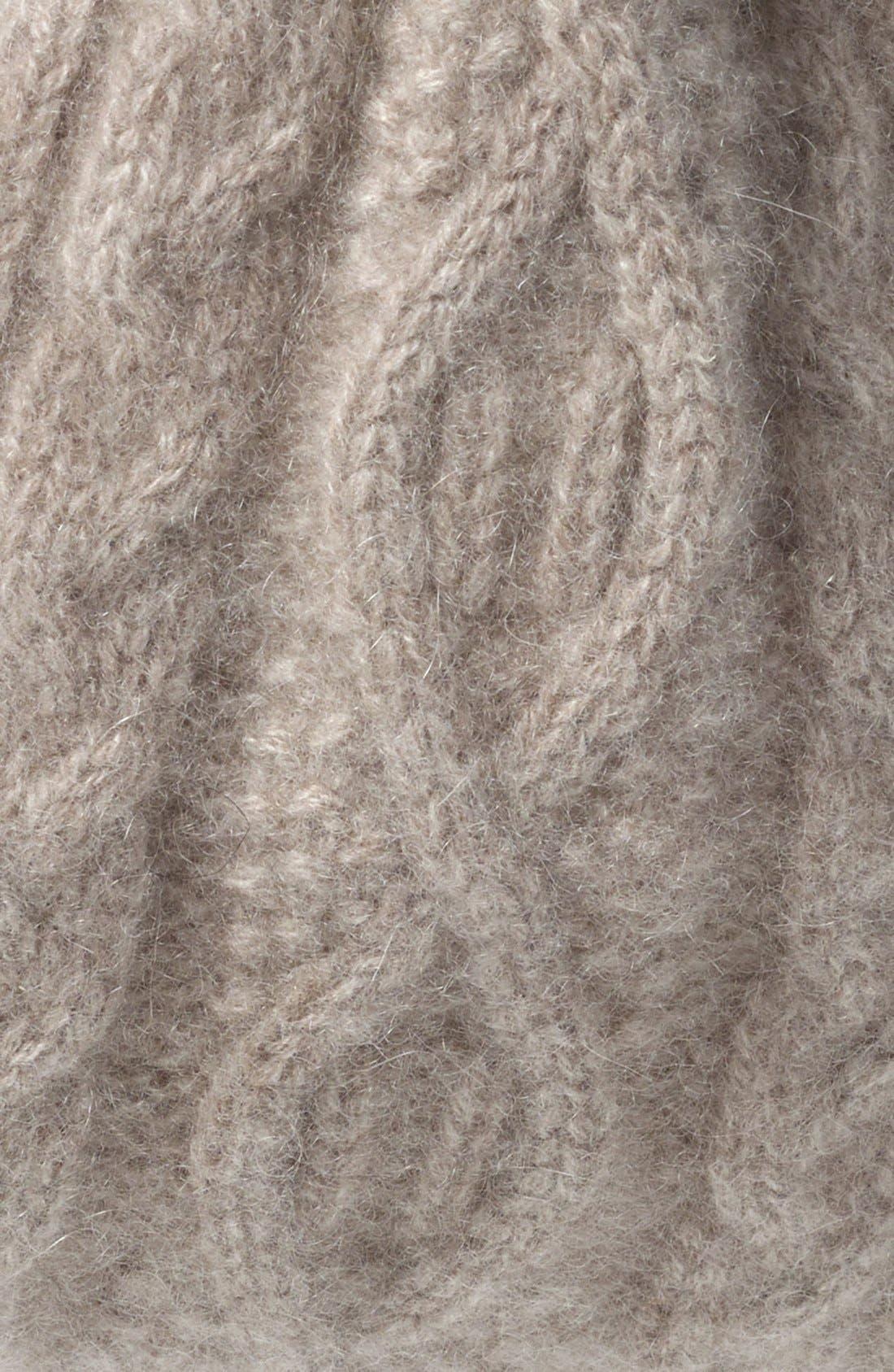 Alternate Image 2  - L. Erickson Convertible Cable Knit Cashmere Head Wrap