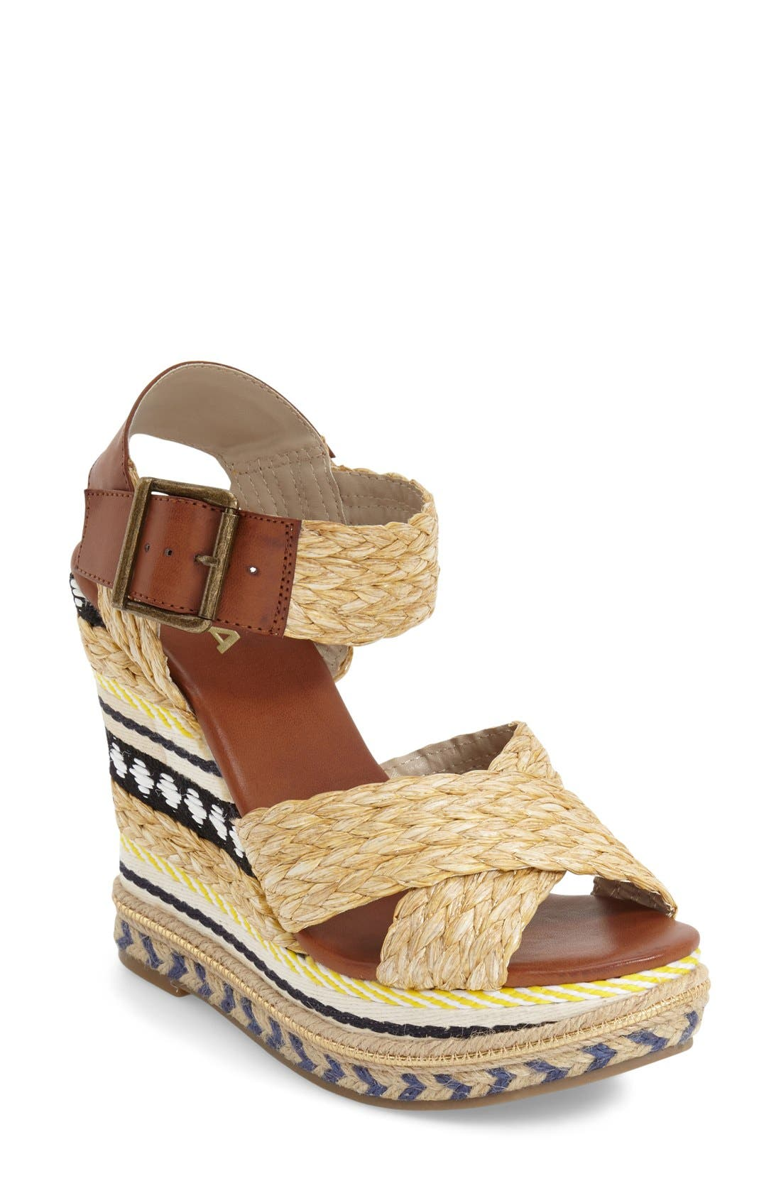 Main Image - MIA 'Fareena' Platform Wedge Sandal (Women)