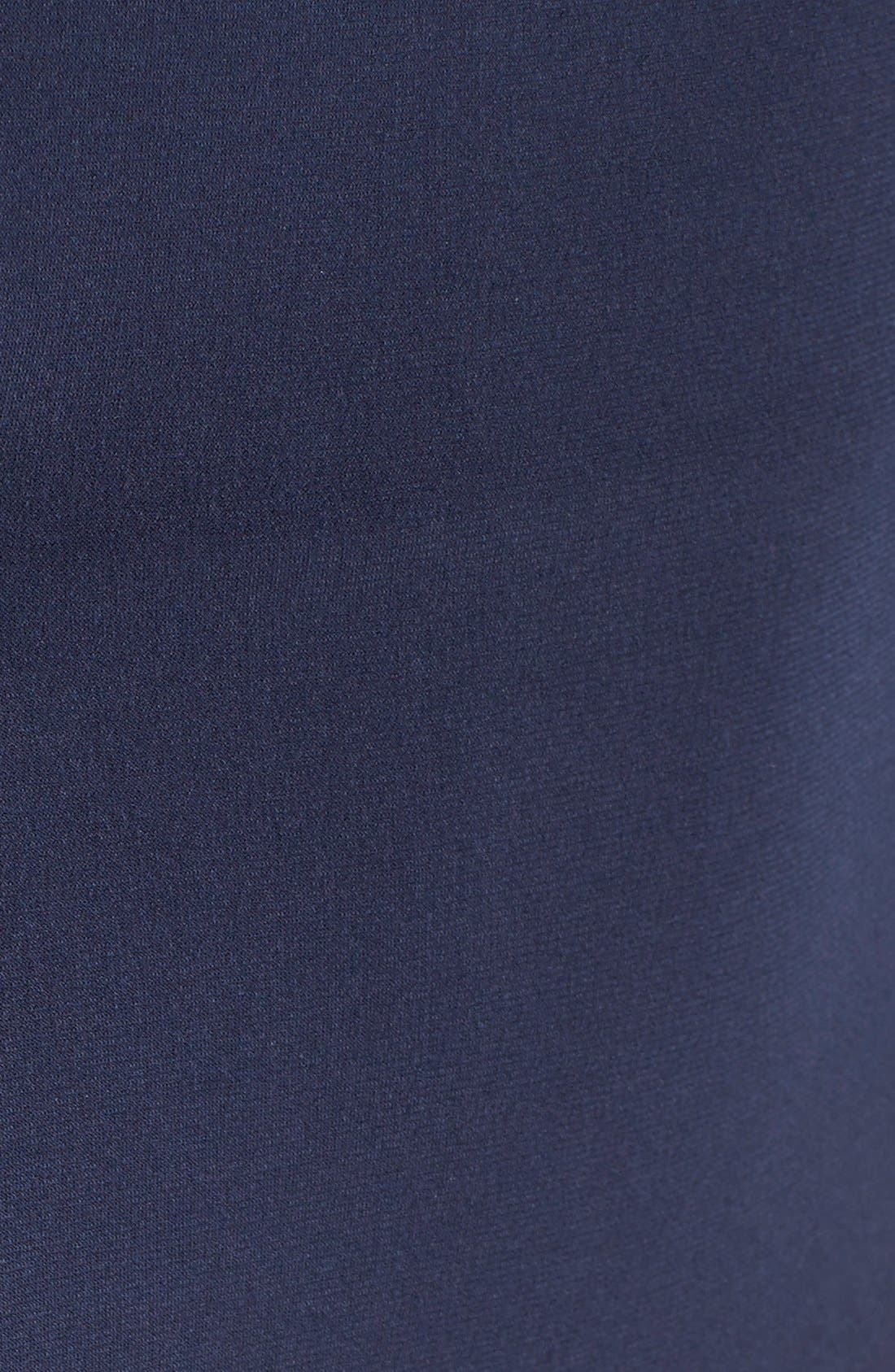 Alternate Image 6  - La Femme Embellished Illusion Jersey Gown