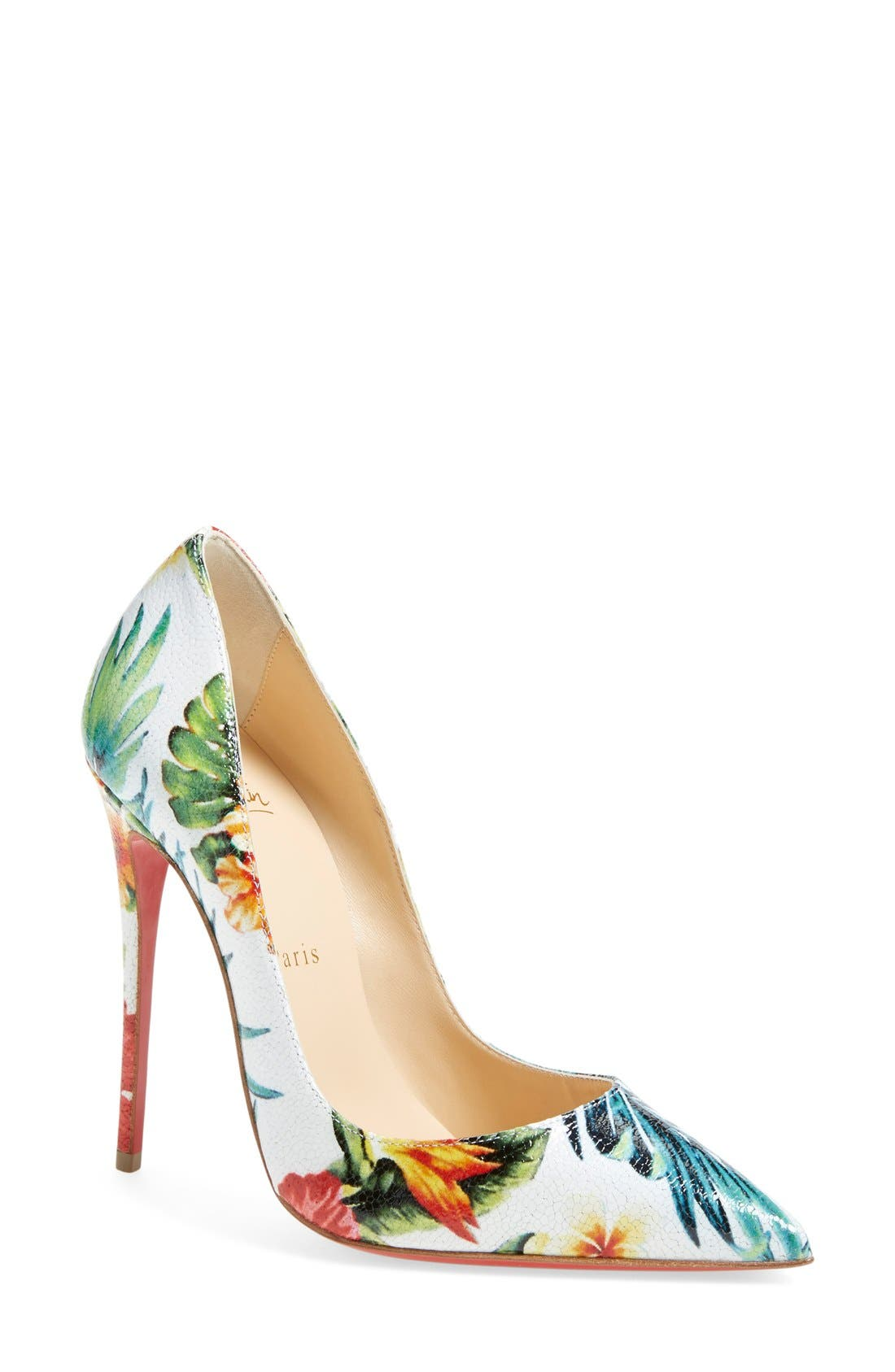 Alternate Image 1 Selected - Christian Louboutin 'So Kate - Hawaii' Print Pointy Toe Pump (Women)