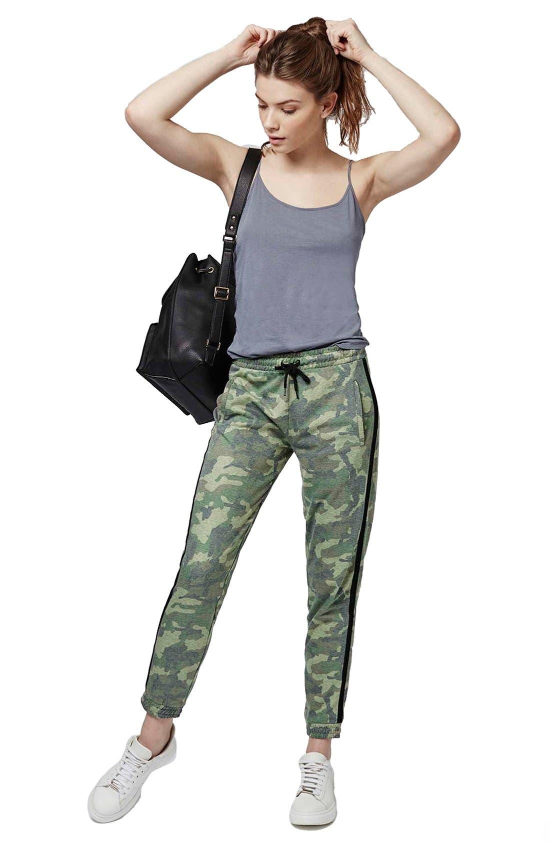 Alternate Image 2  - Topshop Camo Sweatpants