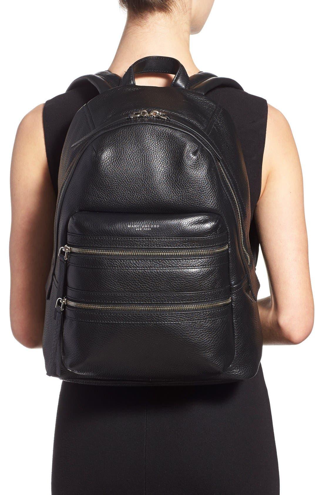 Alternate Image 2  - MARC JACOBS Large Biker Leather Backpack