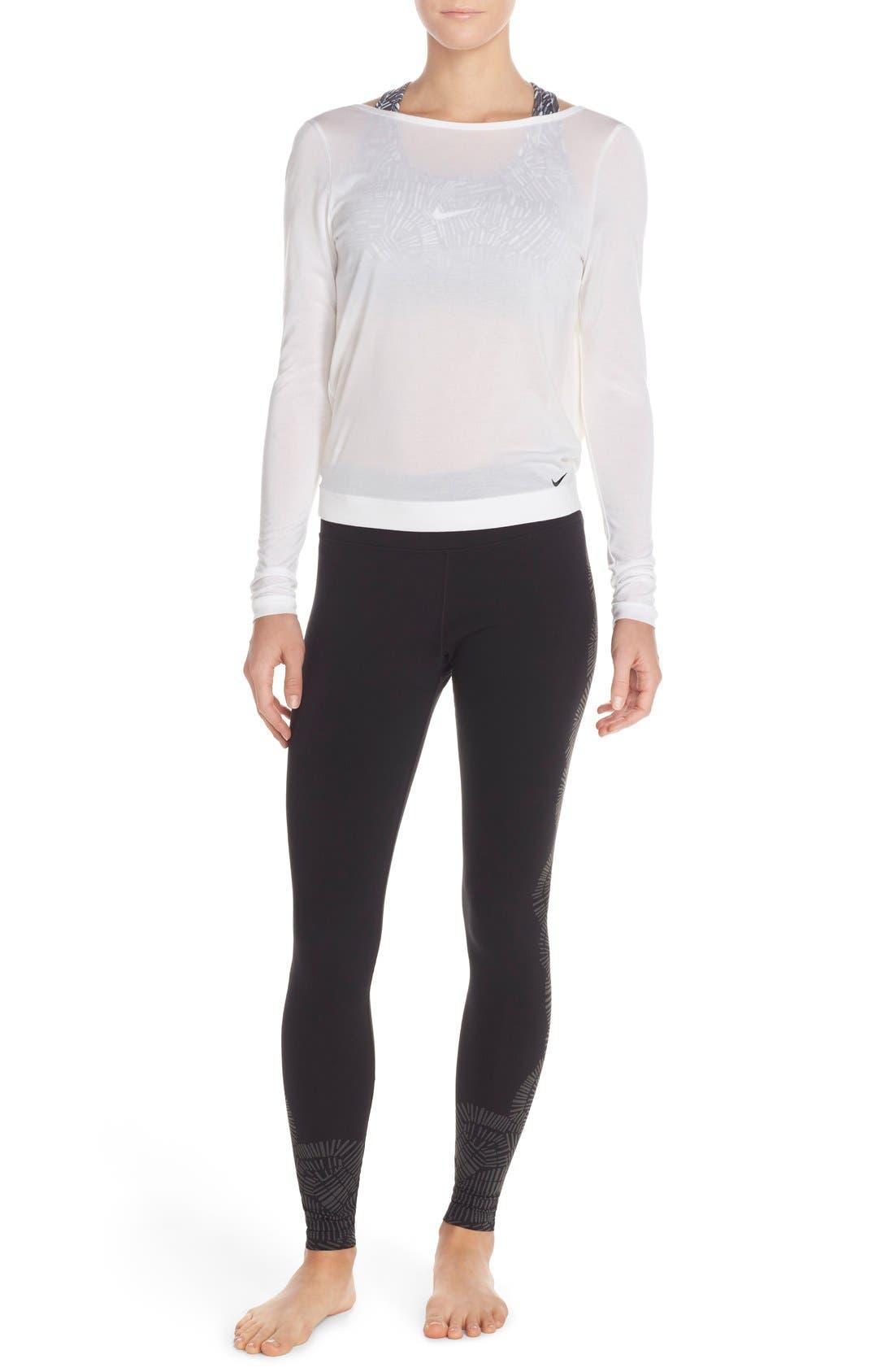 Alternate Image 5  - Nike Dri-FIT Drape Neck Top