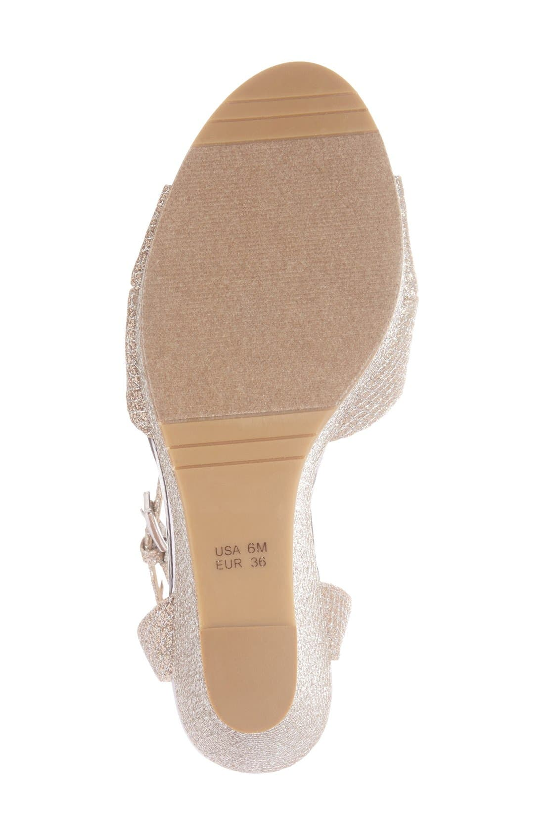 Alternate Image 4  - Nina 'Gianina' Glitter Mesh Wedge Sandal (Women)