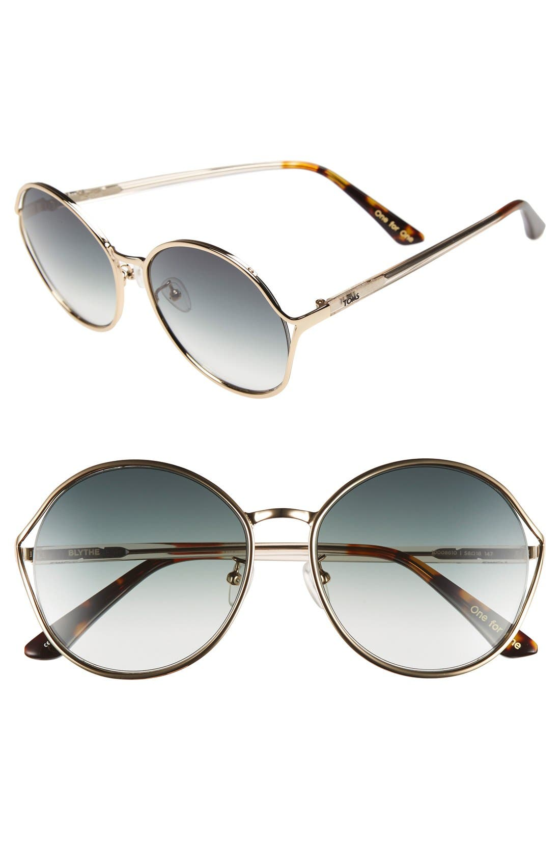 Main Image - TOMS 'Blythe' 57.5mm Sunglasses