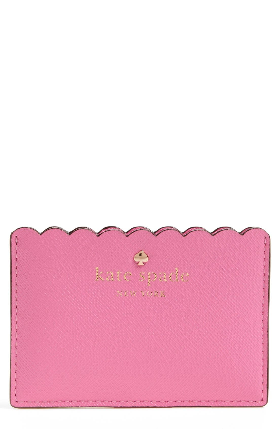 Alternate Image 1 Selected - kate spade new york 'cape drive' saffiano leather card holder
