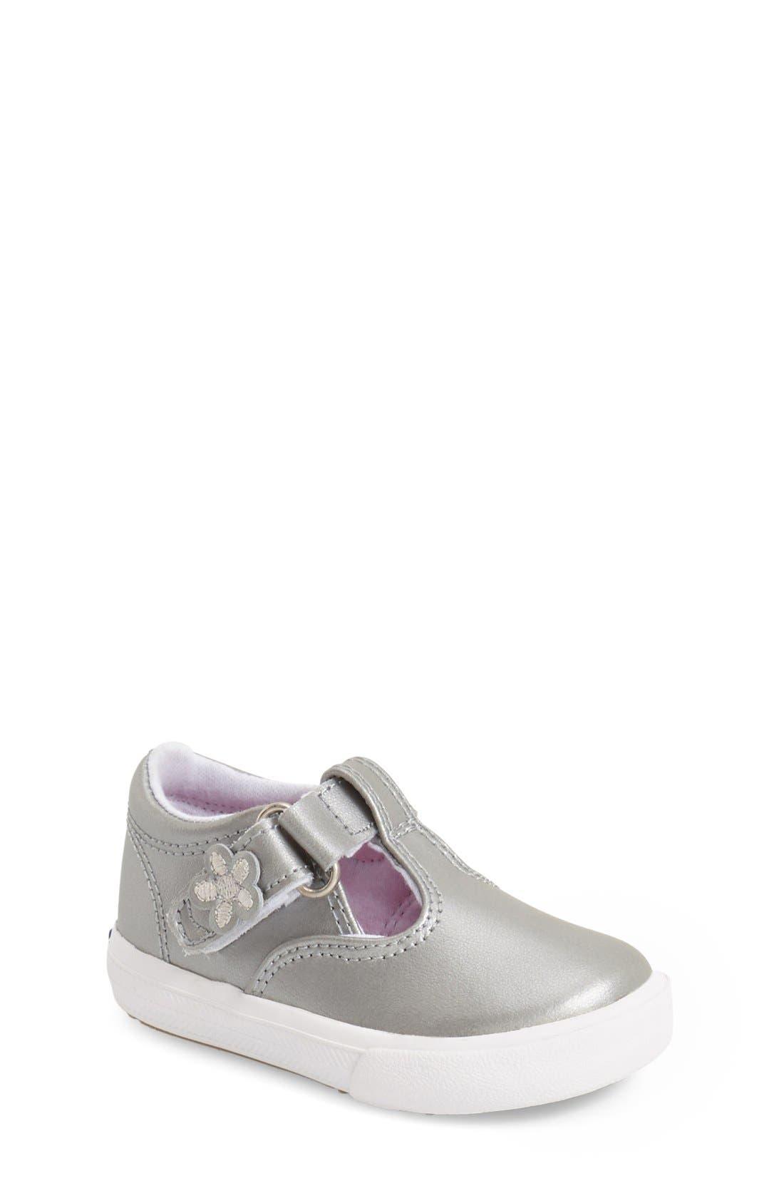 Keds® 'Daphne' T-Strap (Baby, Walker & Toddler)