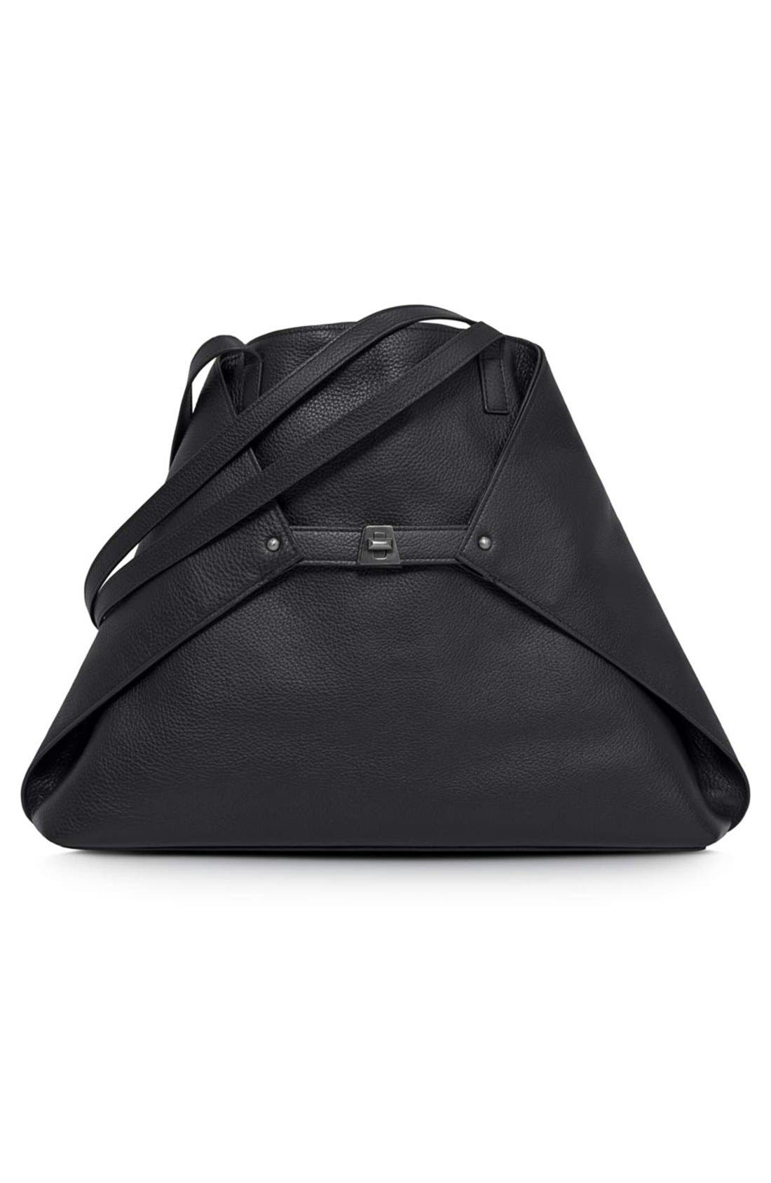 Alternate Image 1 Selected - Akris 'Ai Medium Shoulder Tote' Leather Shoulder Tote