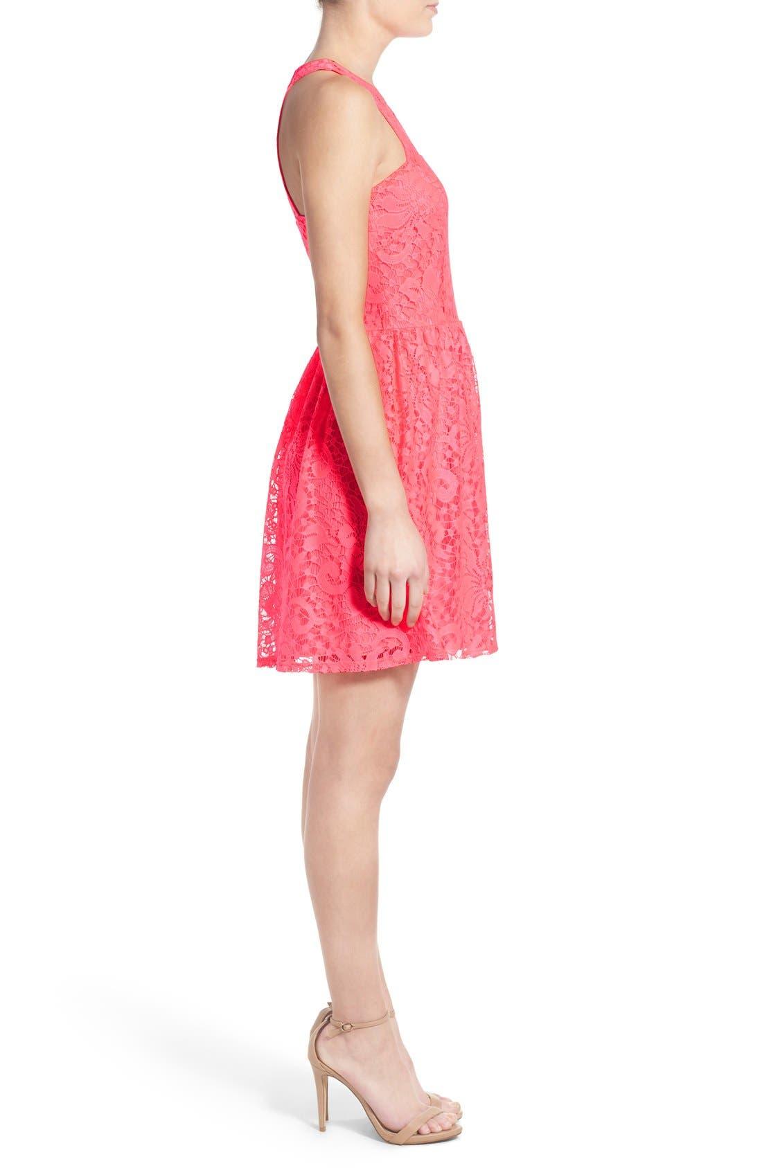 Alternate Image 3  - Speechless Lace Skater Dress