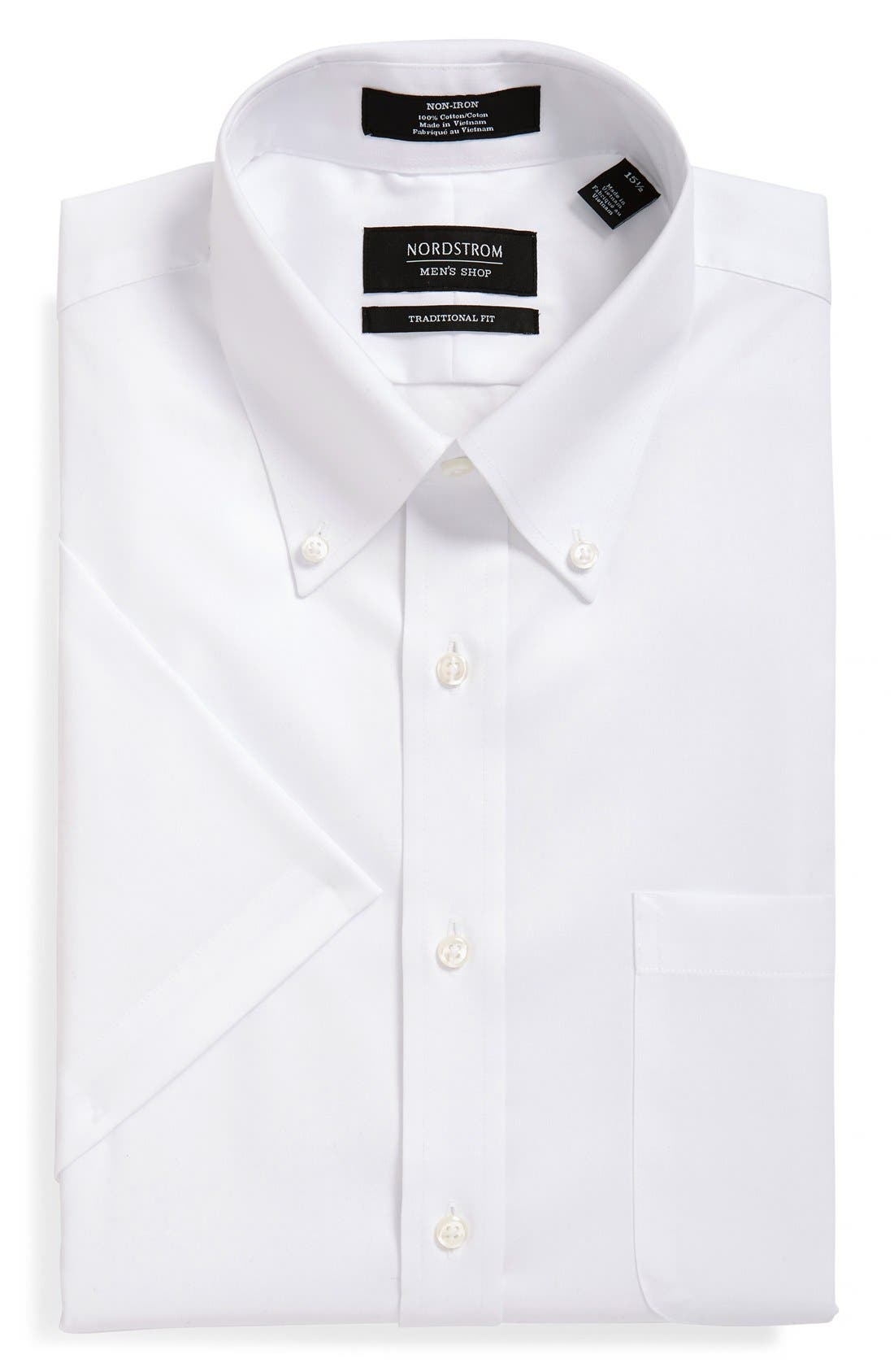 Nordstrom Men's Shop Traditional Fit Non-Iron Short Sleeve Dress Shirt
