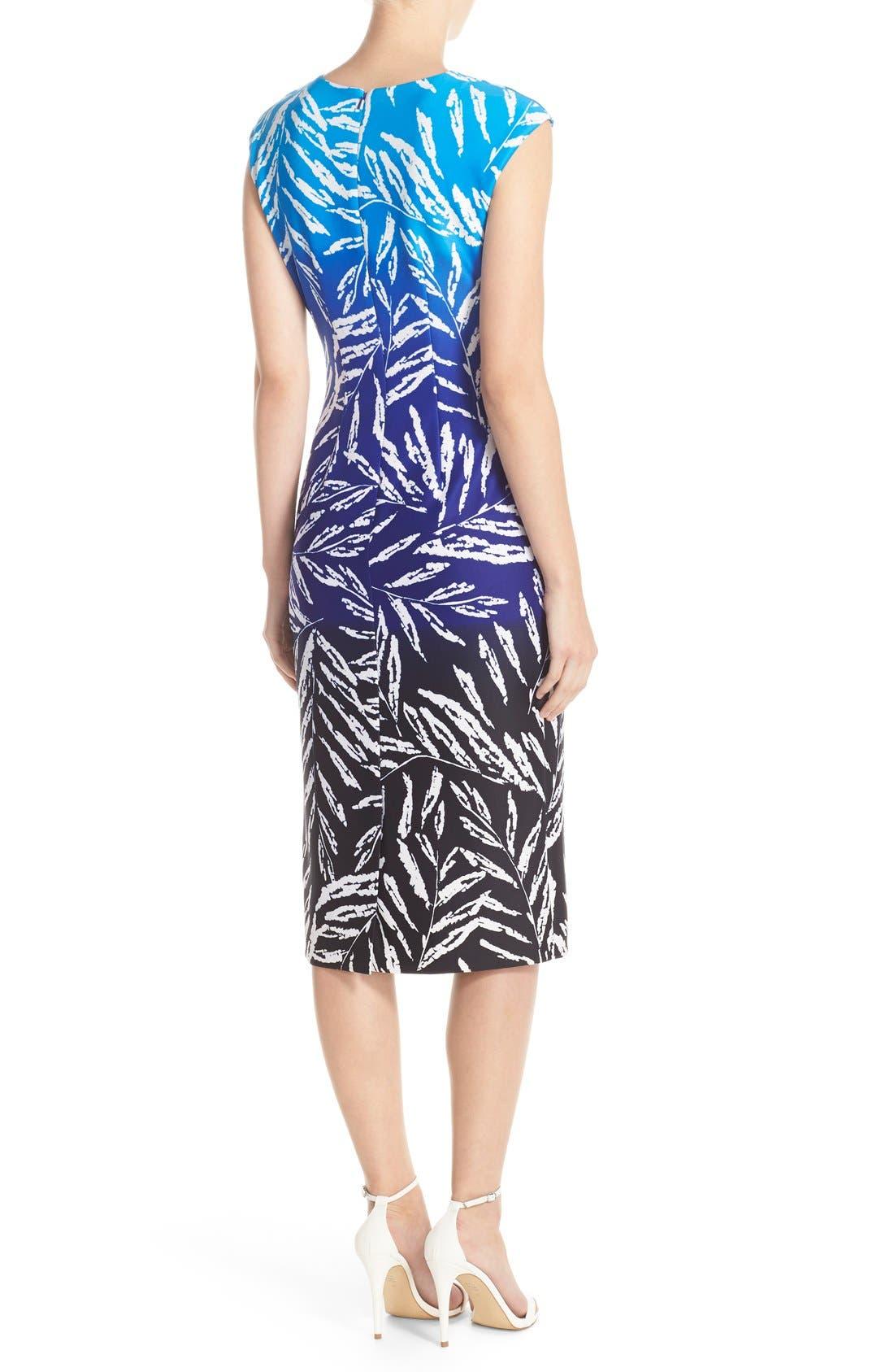 Alternate Image 2  - Vince Camuto Ombré Print Stretch Scuba Midi Dress