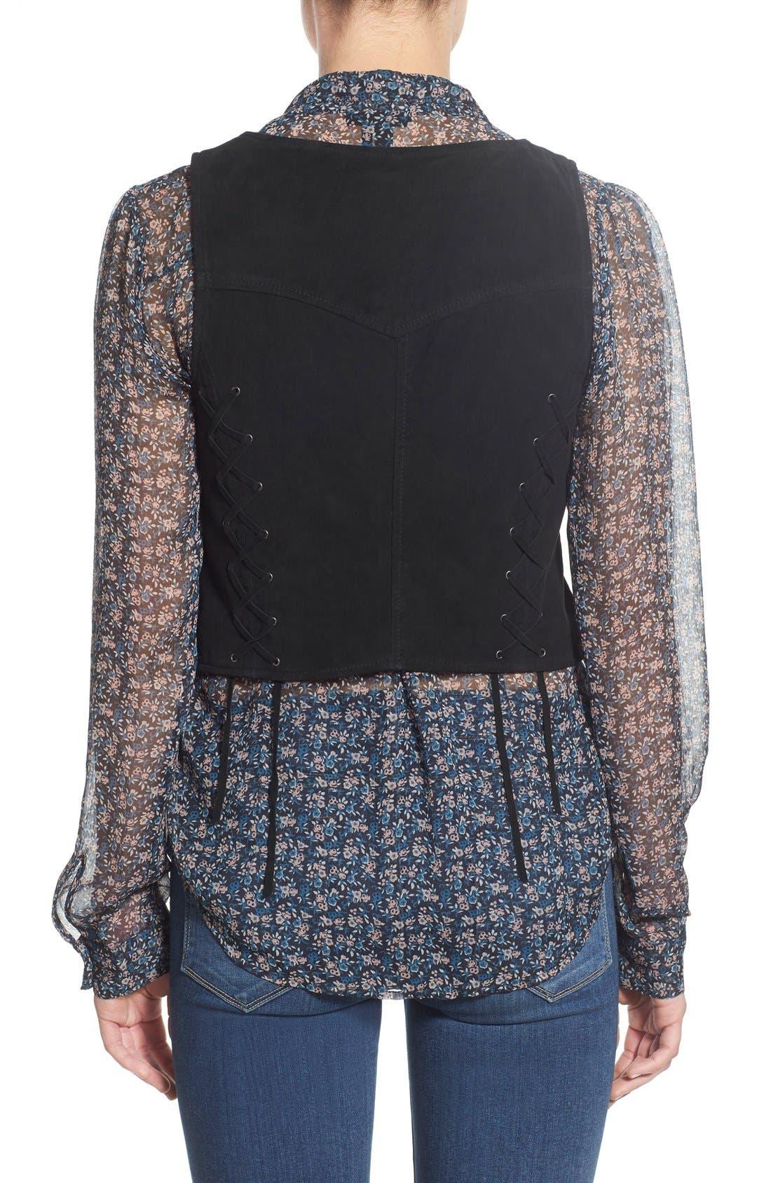 Alternate Image 2  - PAIGE 'Janelle' Suede Vest