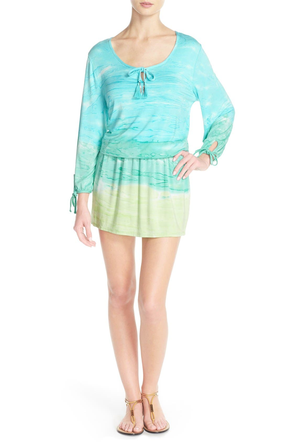 Main Image - Green Dragon 'Palais' Print Tunic Cover-Up