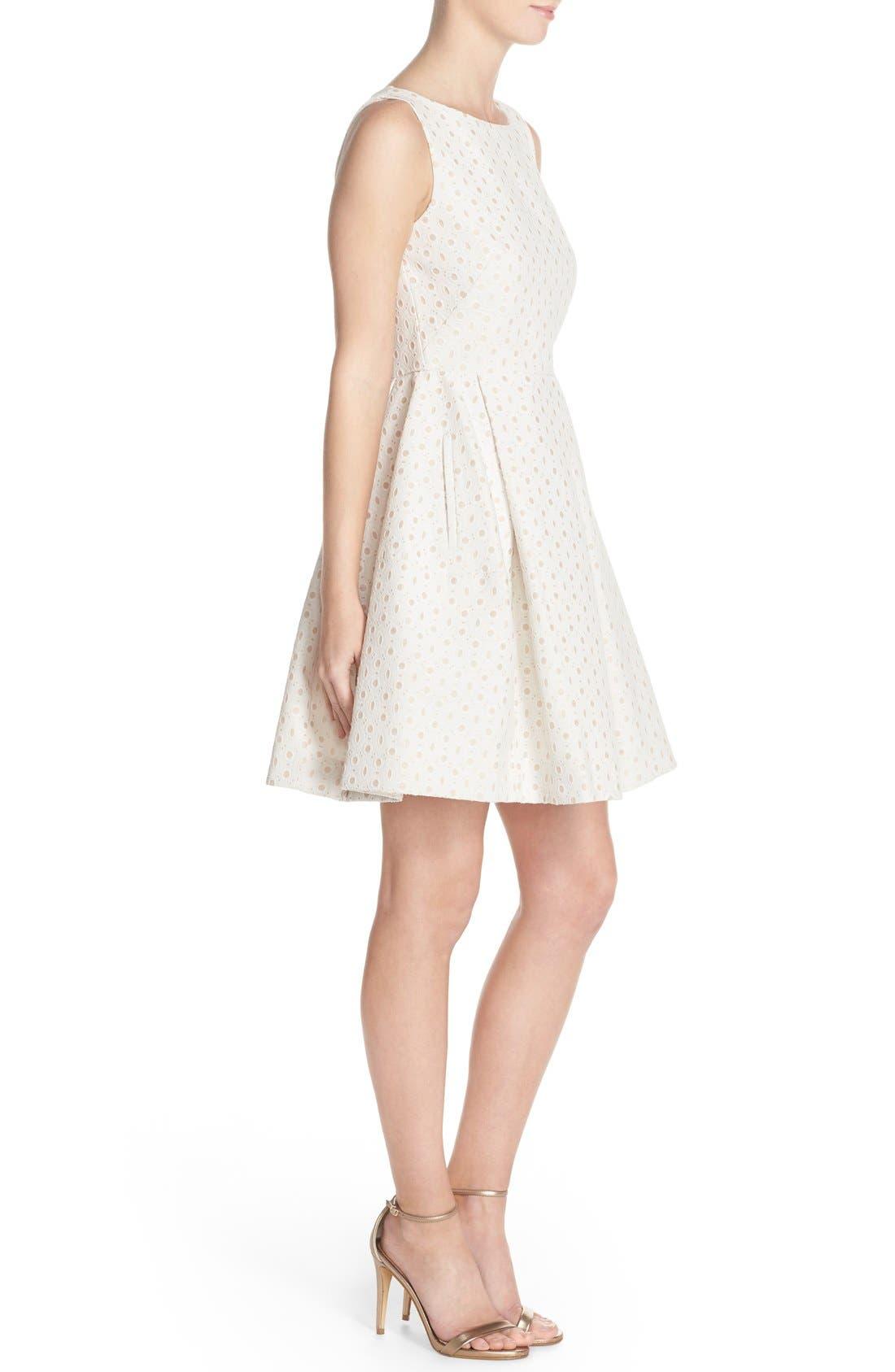 Alternate Image 3  - Taylor Dresses Eyelet Fit & Flare Dress