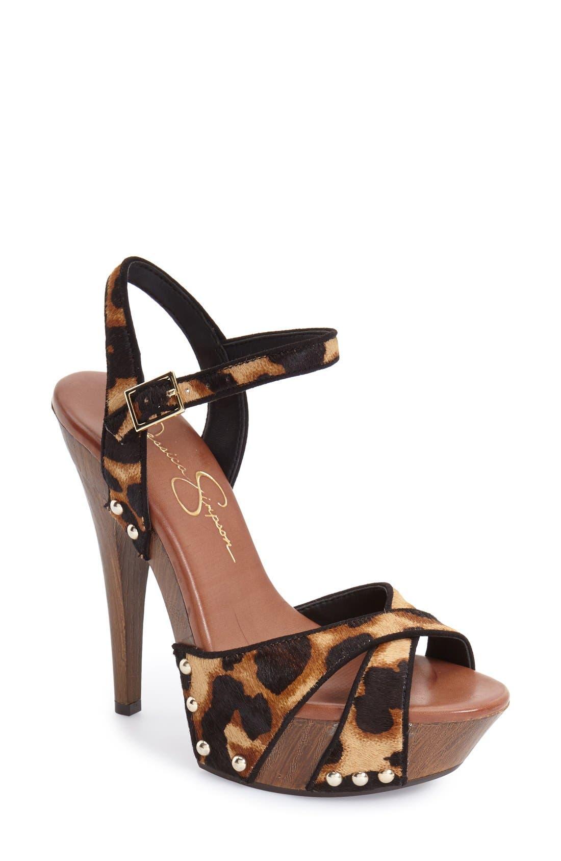 Alternate Image 1 Selected - Jessica Simpson 'Faraday' Platform Sandal (Women)
