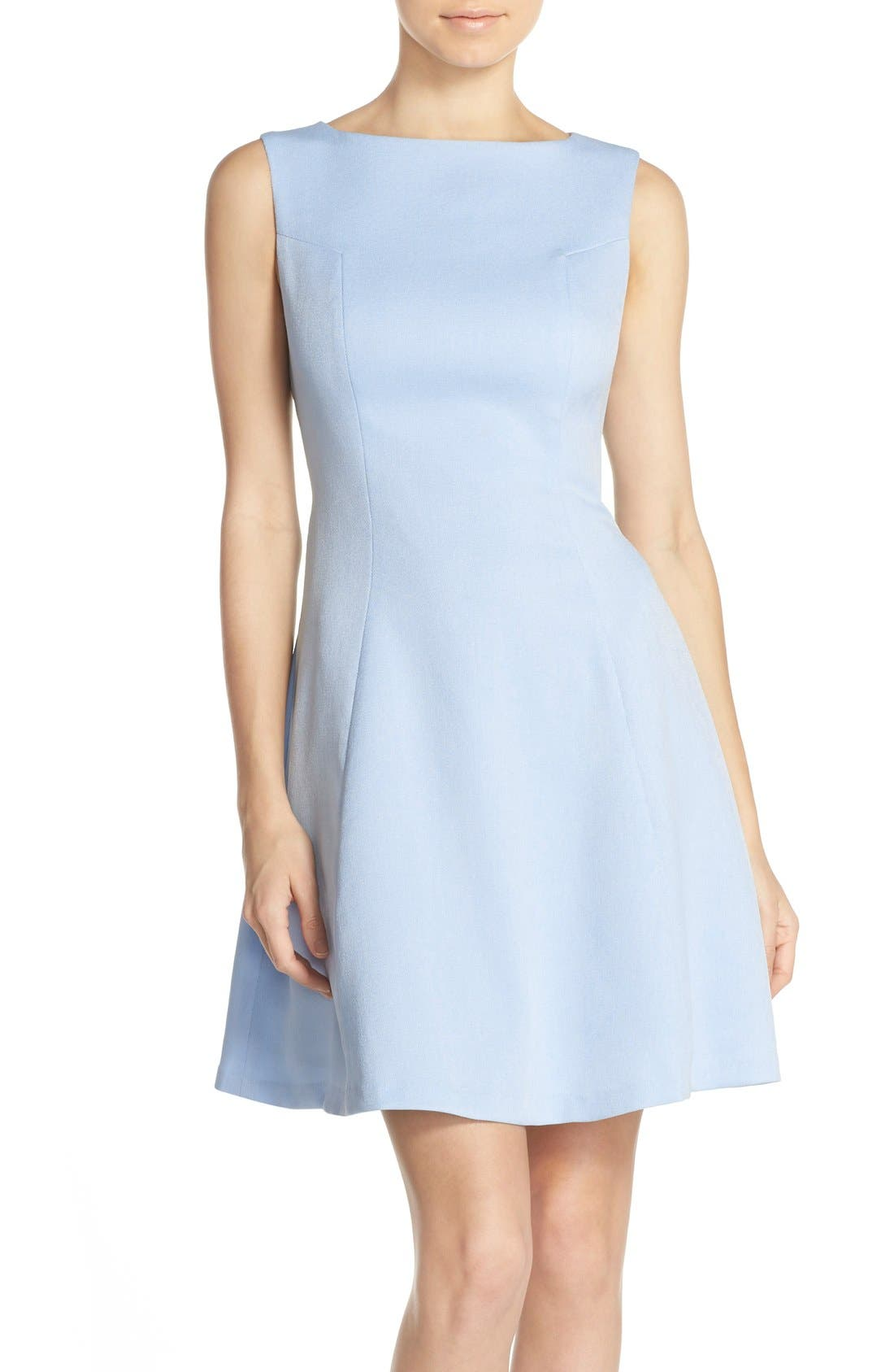 Alternate Image 1 Selected - Chelsea28 Woven Fit & Flare Dress