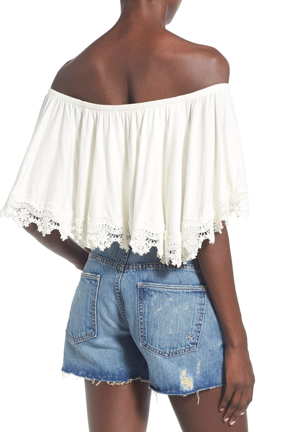 Alternate Image 2  - Lovers + Friends 'Love Me' Off the Shoulder Top