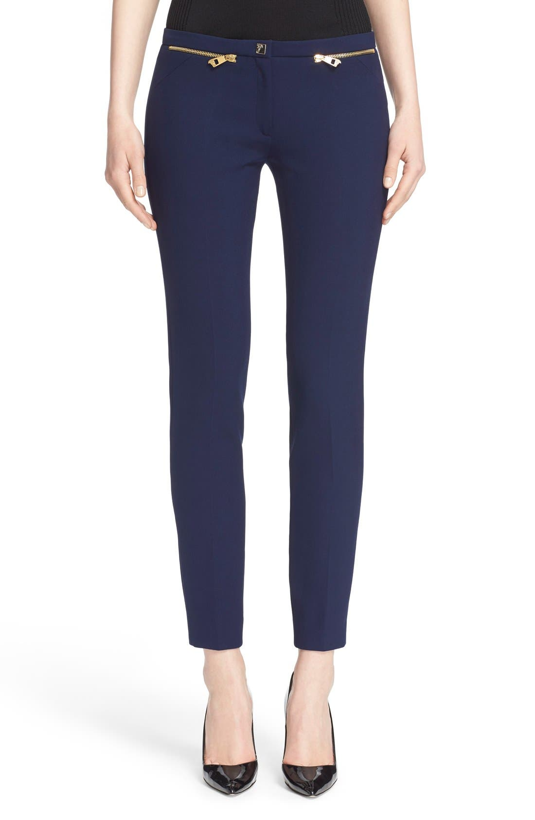 Main Image - Versace Collection Zip Detail Skinny Cady Ankle Pants