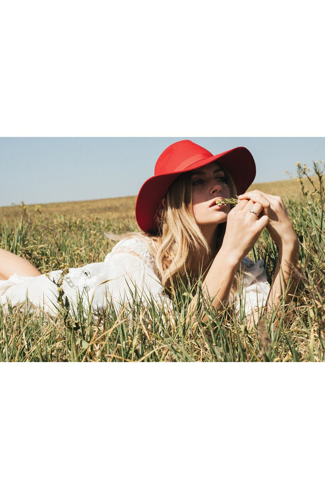 Alternate Image 3  - Brixton 'Dahlia' Floppy Brim Wool Hat