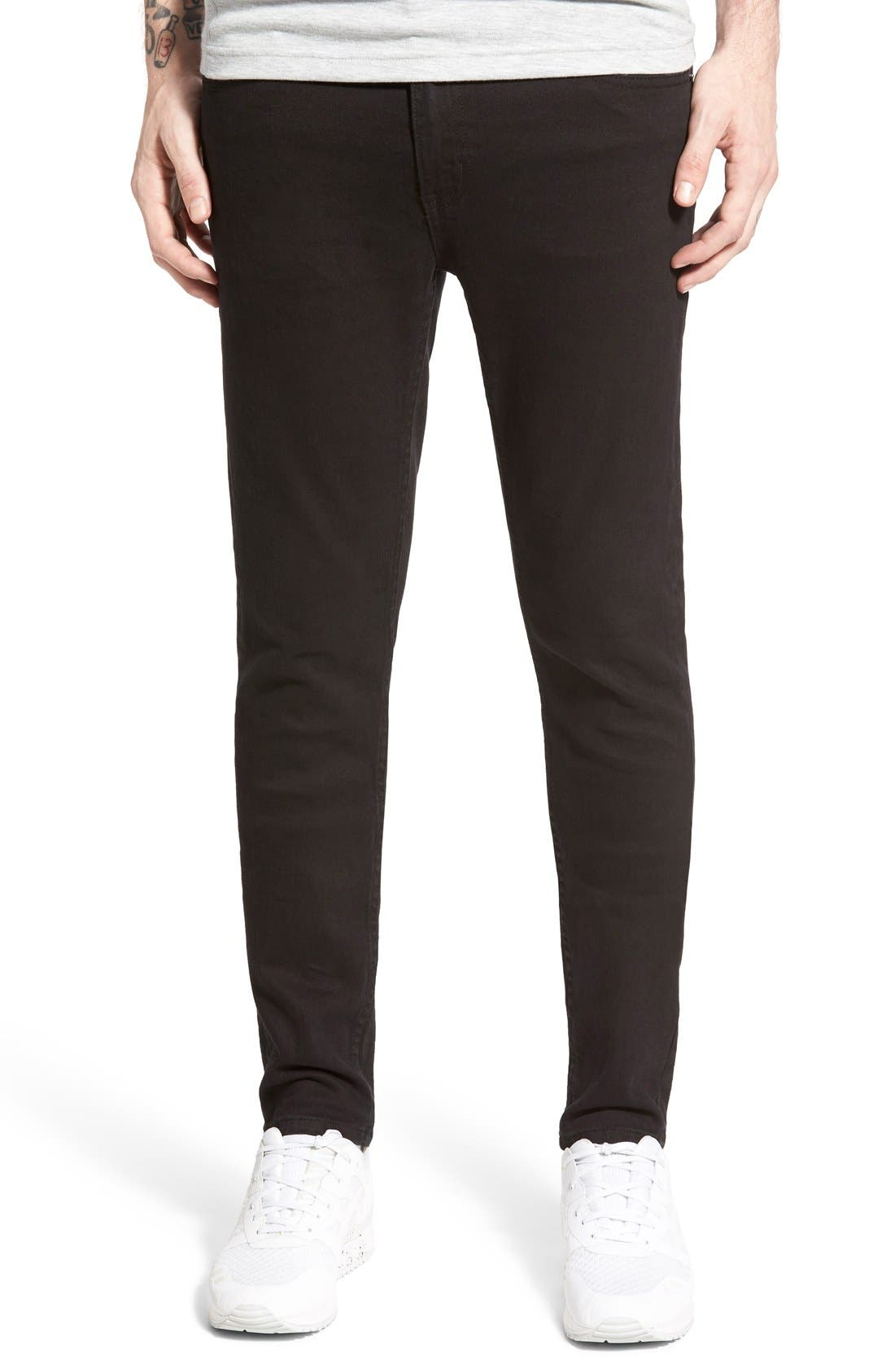 Cheap Monday 'Tight' Skinny Fit Jeans (New Black)