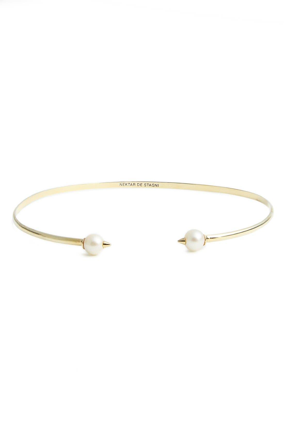 Nektar de Stagni 'New Classics' Spike Cultured Pearl Choker Necklace
