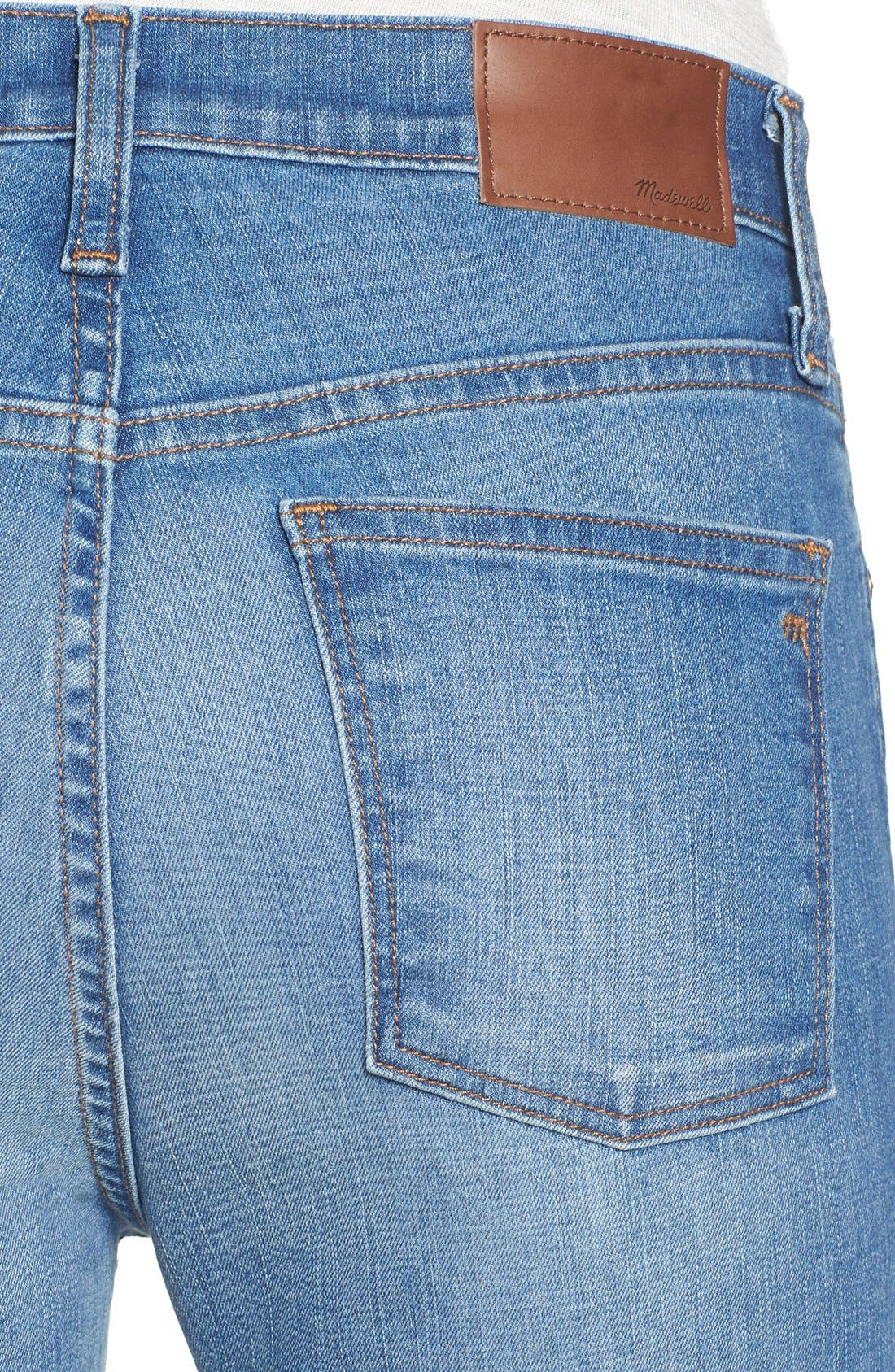 Alternate Image 5  - Madewell 'High Riser - Button Through' Crop Skinny Skinny Jeans (Kearney Wash)