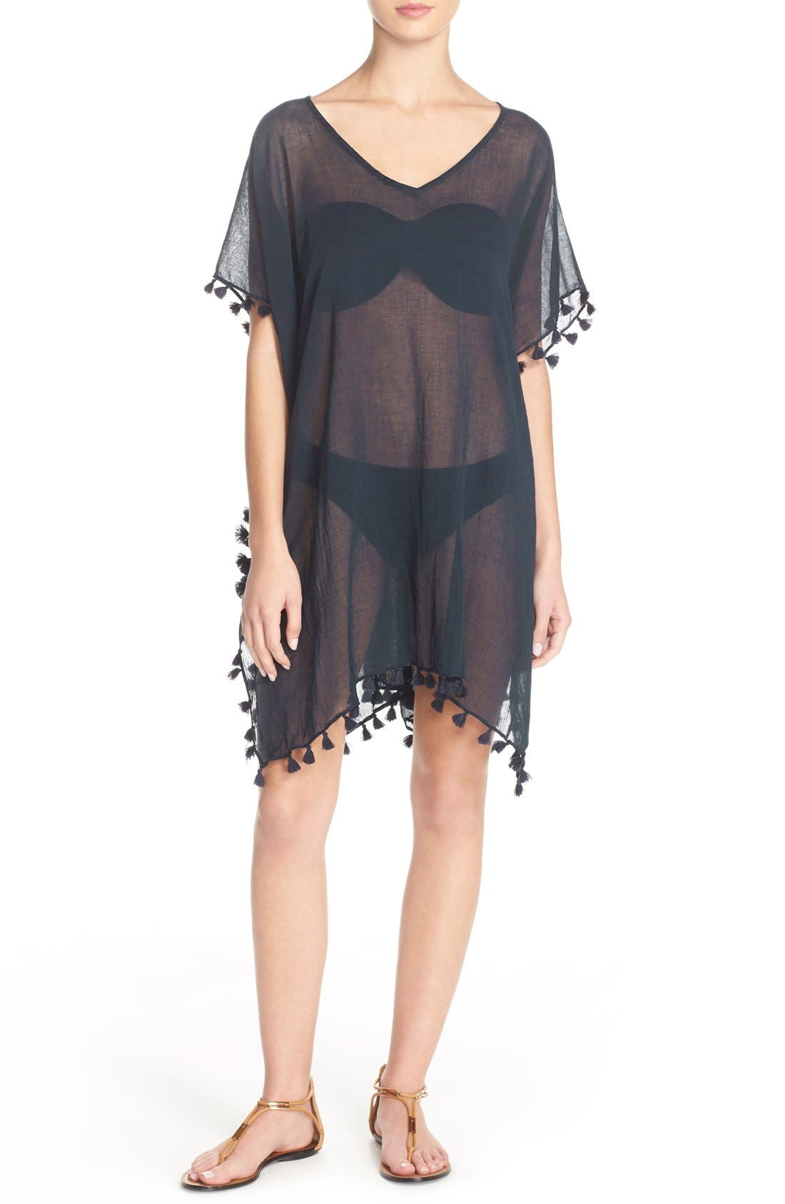 SEAFOLLY 'Amnesia' Cotton Gauze Cover-Up Caftan