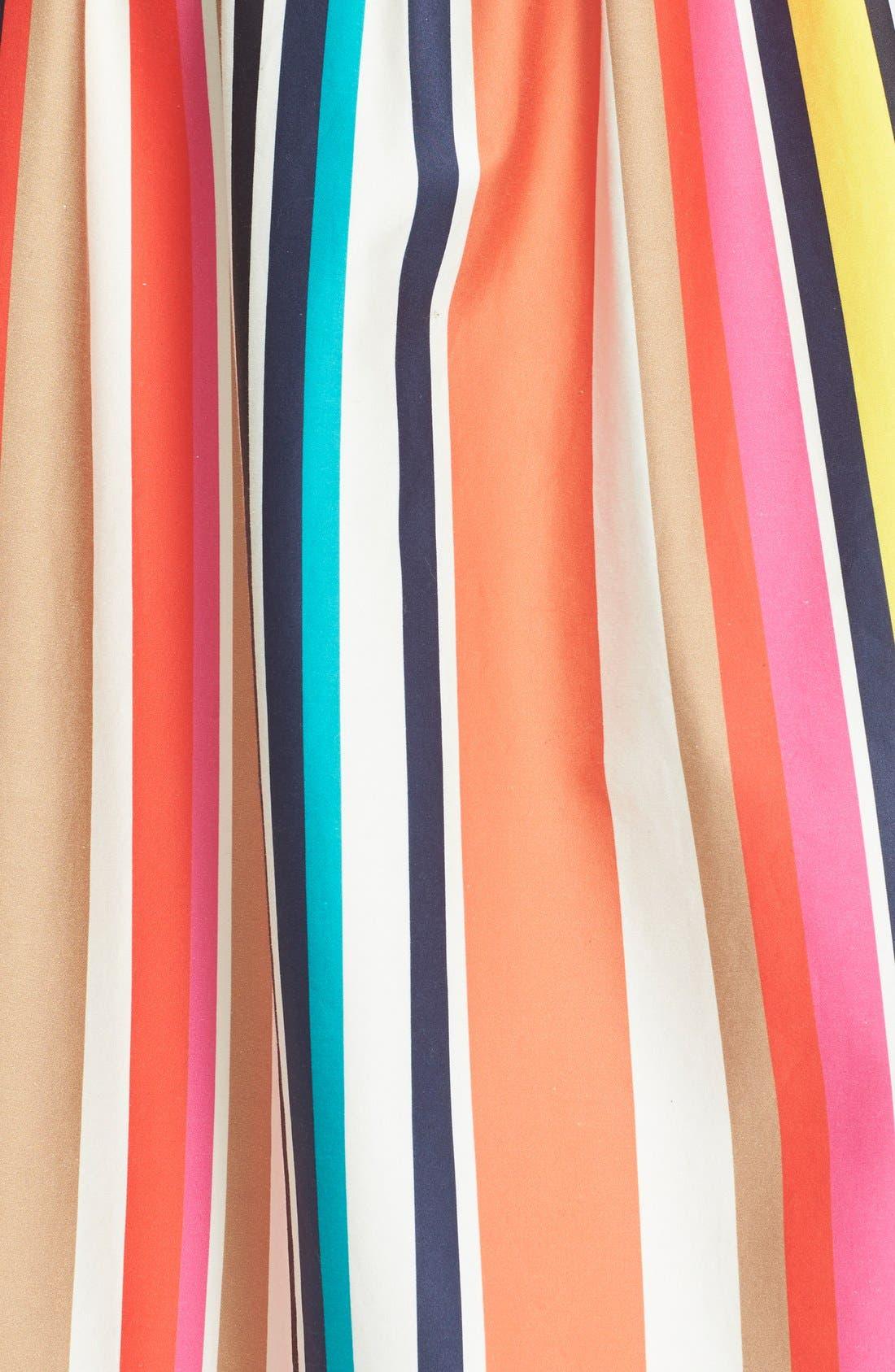 Alternate Image 6  - Alice + Olivia 'Nikola' Stripe Midi Skirt