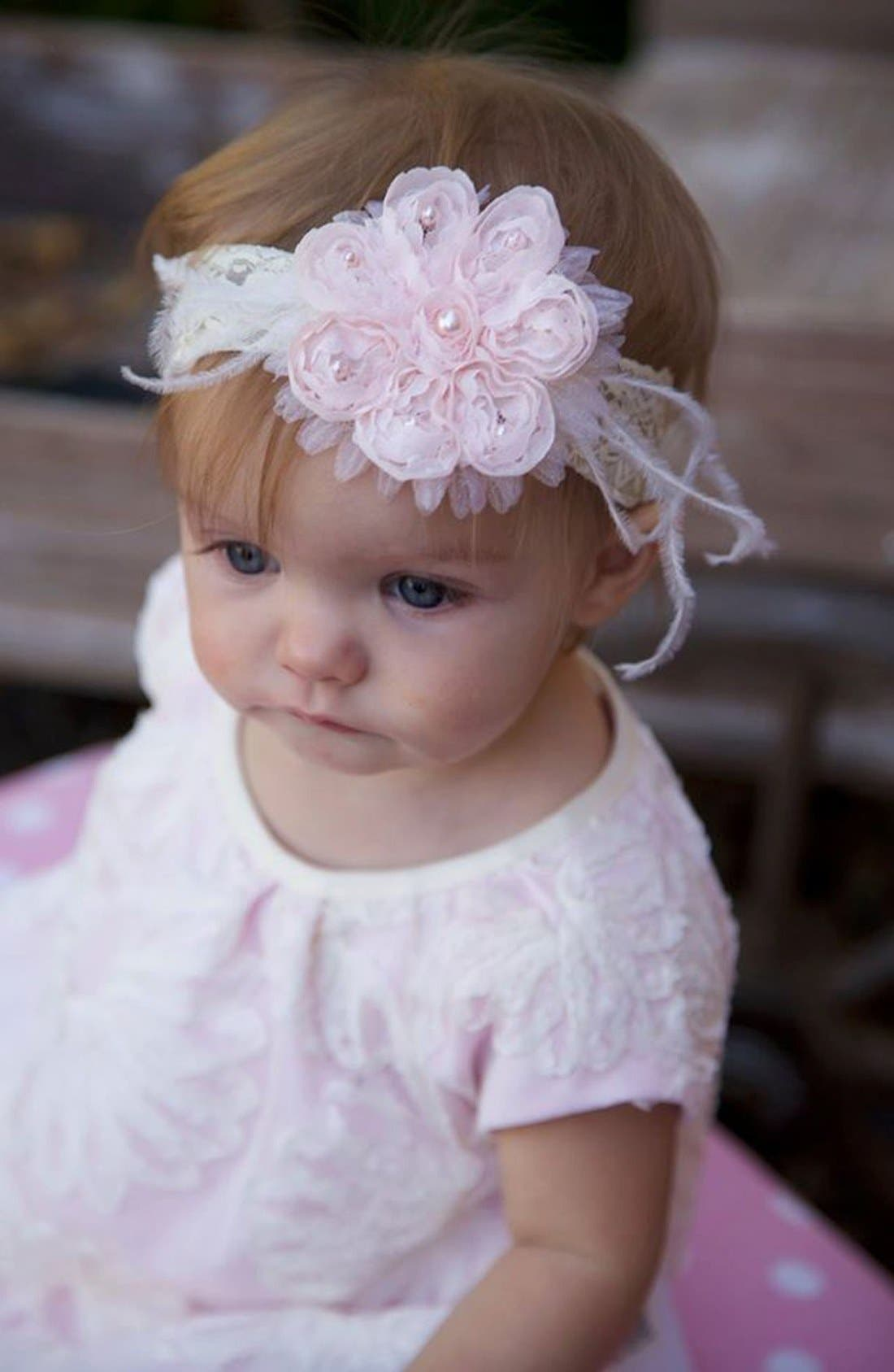 Alternate Image 3  - PLH Bows & Laces Headband (Baby Girls & Toddler Girls)