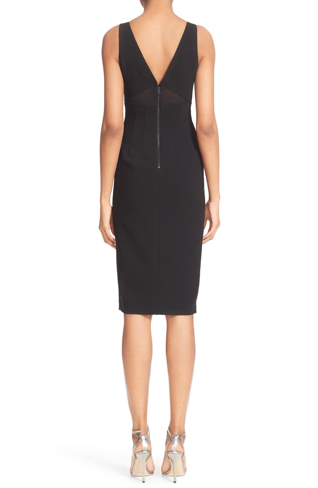 Alternate Image 2  - Alice + Olivia 'Dash' V-Neck Midi Dress