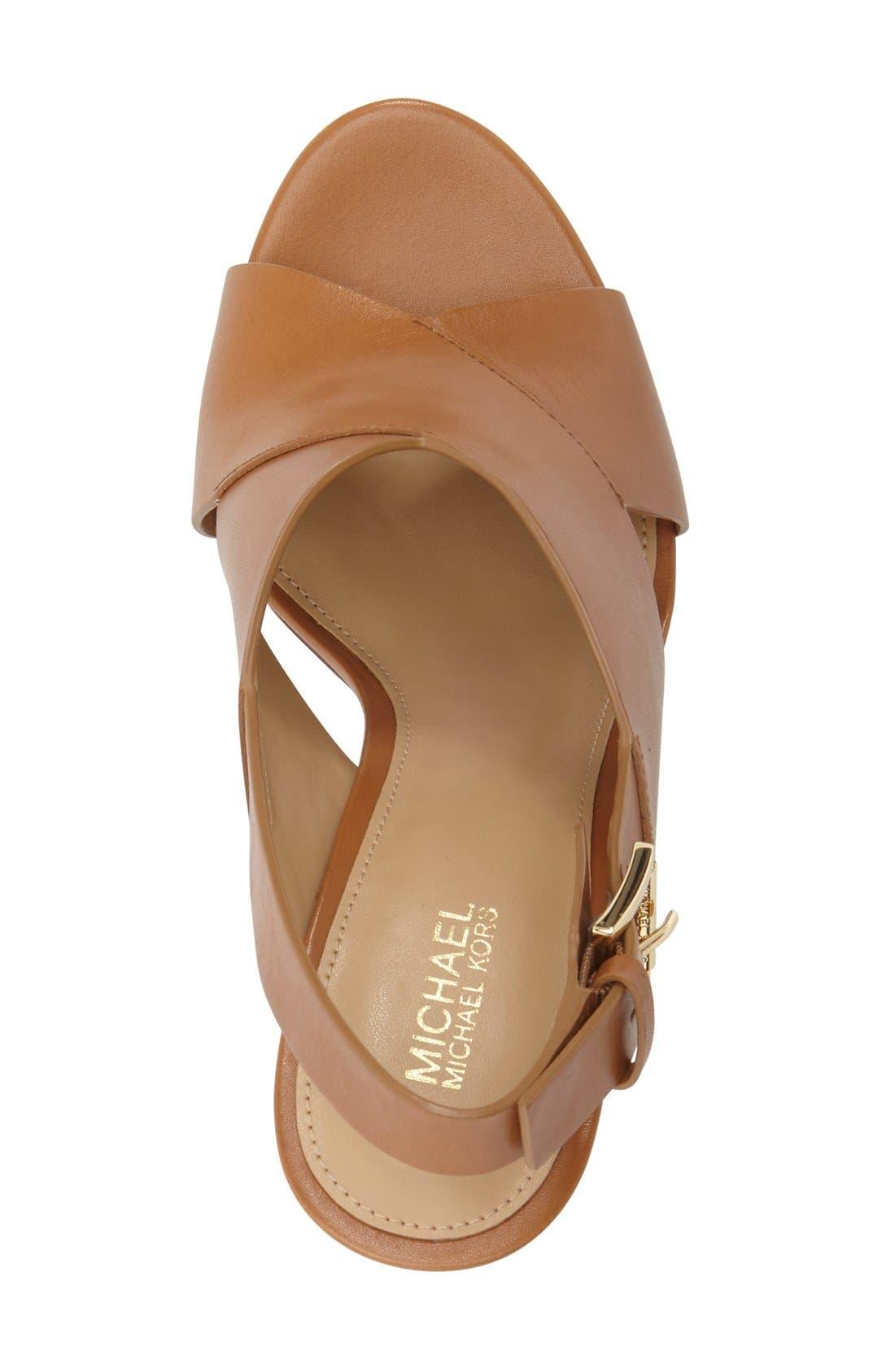 Alternate Image 3  - MICHAEL Michael Kors 'Marina' Slingback Platform Sandal (Women)