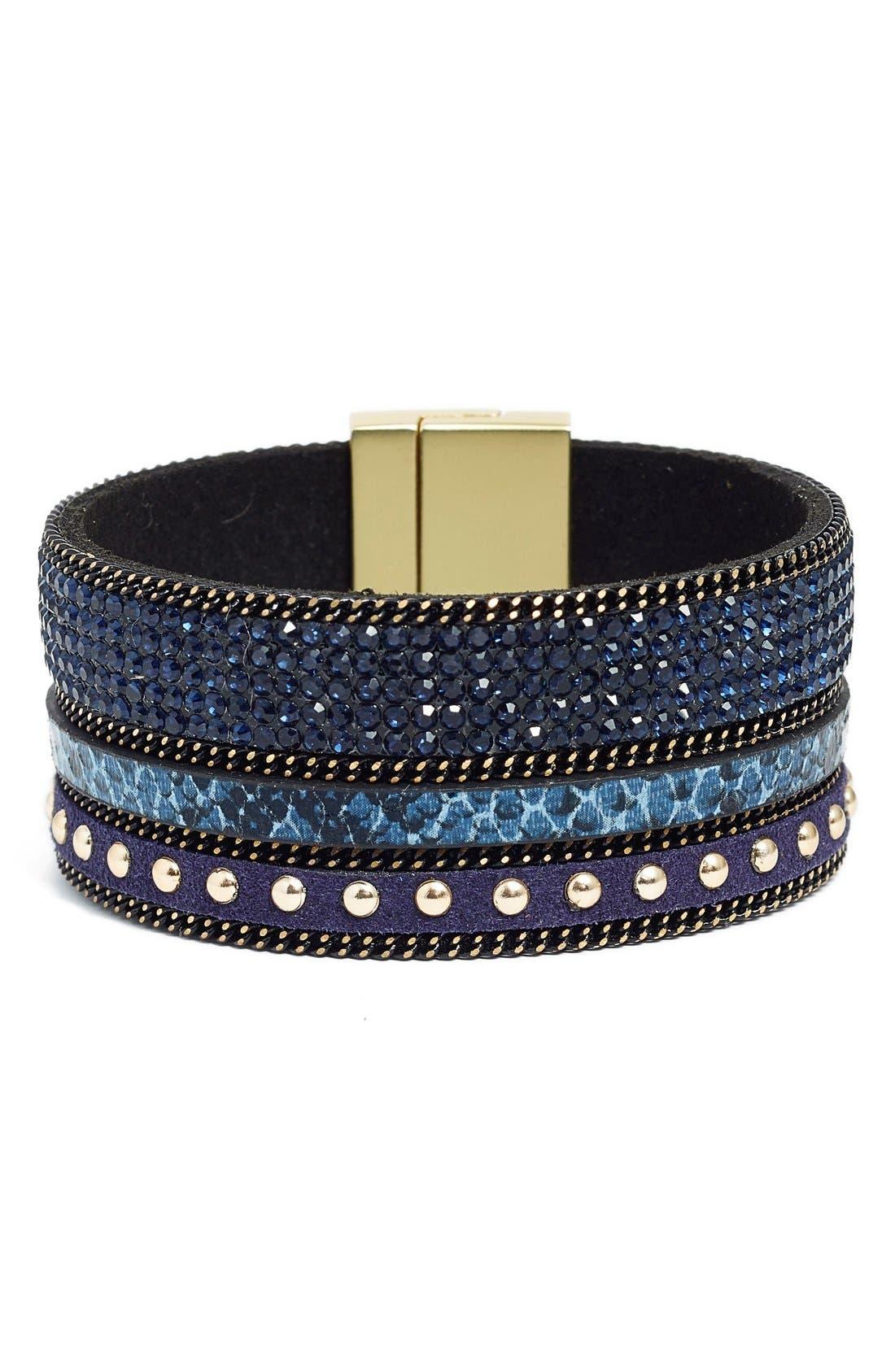 Alternate Image 1 Selected - Elise M. 'Geneva' Leather Bracelet