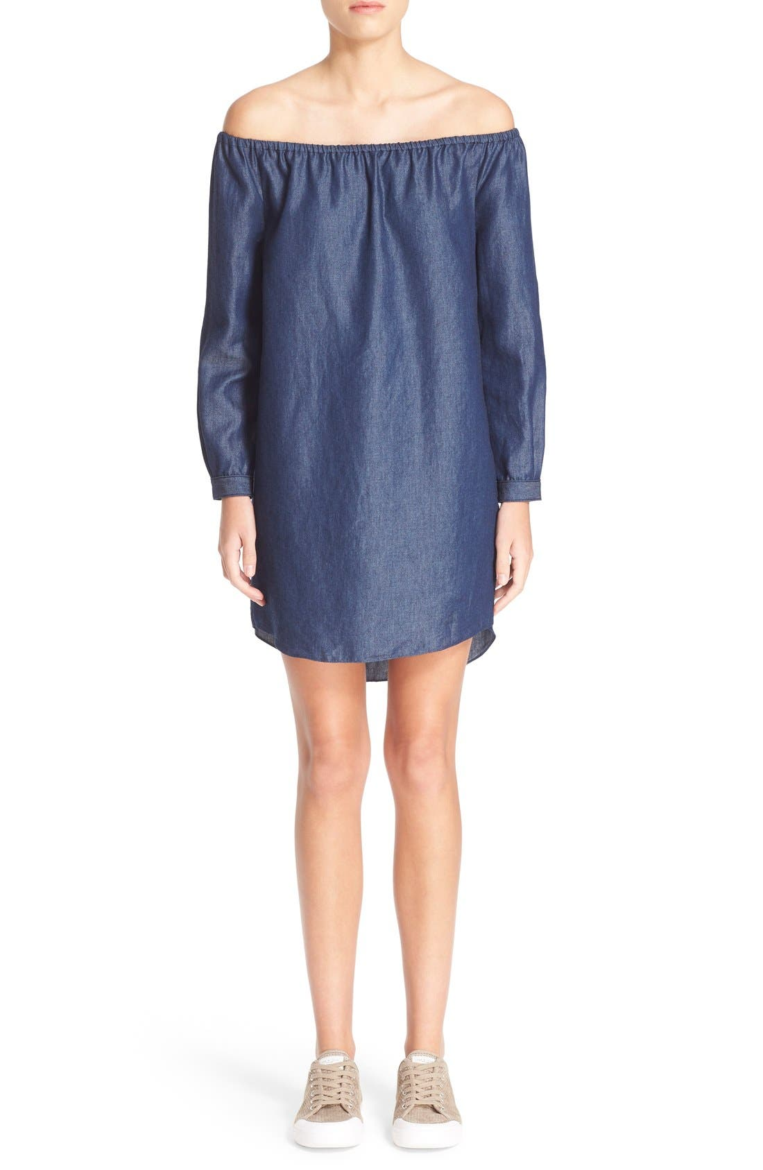 Alternate Image 1 Selected - rag & bone/JEAN Off the Shoulder Shift Dress