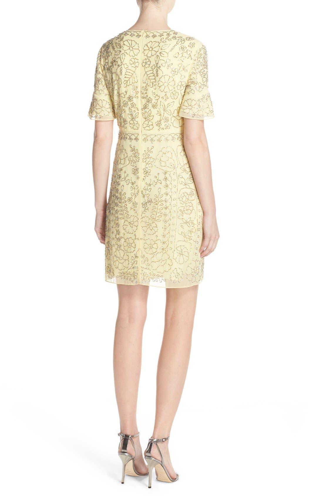 Alternate Image 2  - Needle & Thread Beaded Georgette Sheath Dress