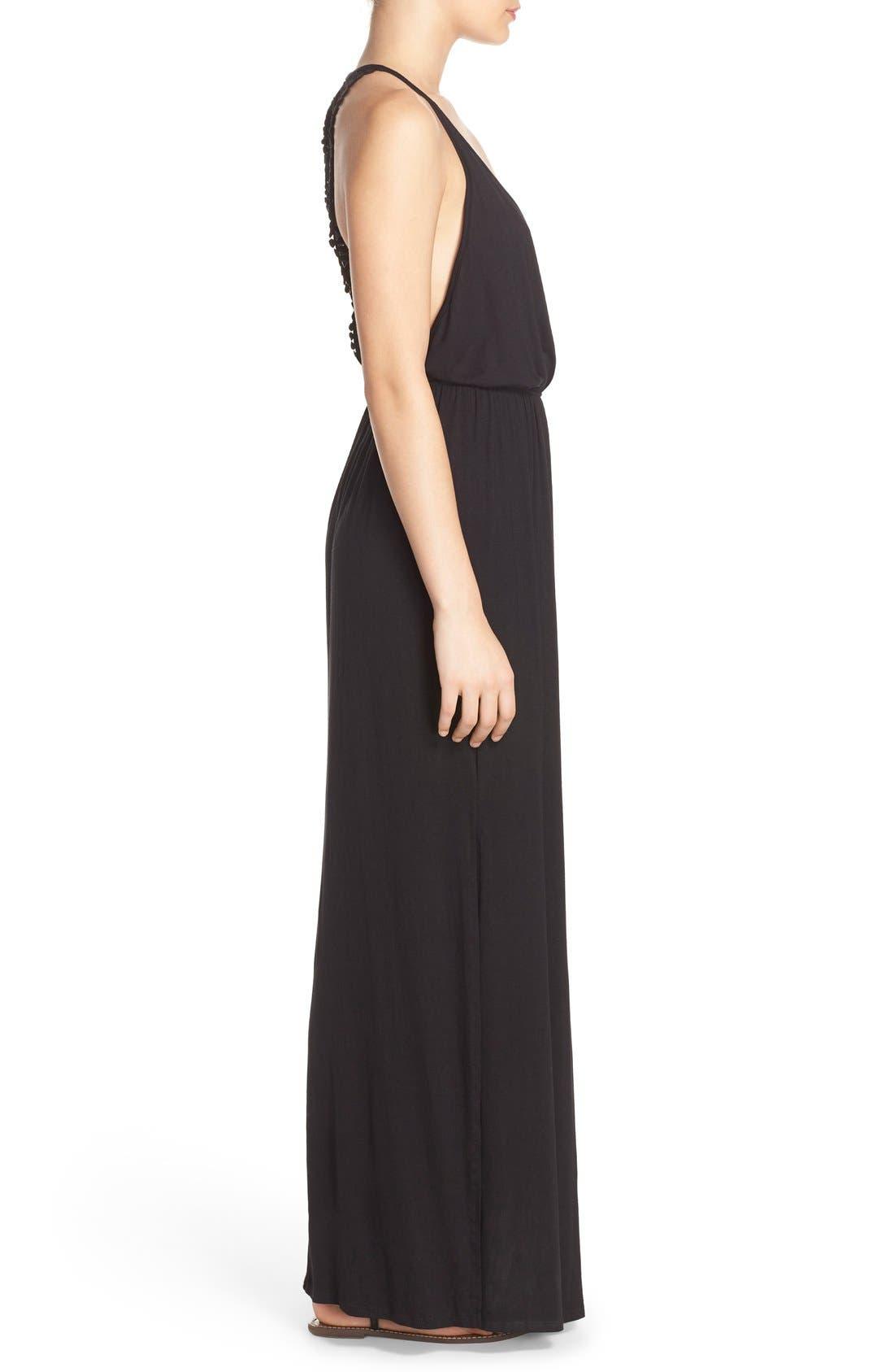 Alternate Image 3  - Surf Gypsy Crochet Back Jersey Cover-Up Maxi Dress