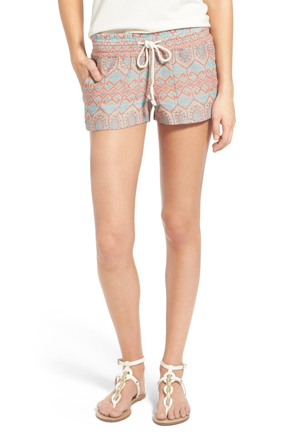 Alternate Image 1 Selected - Roxy 'Oceanside' Jacquard Shorts